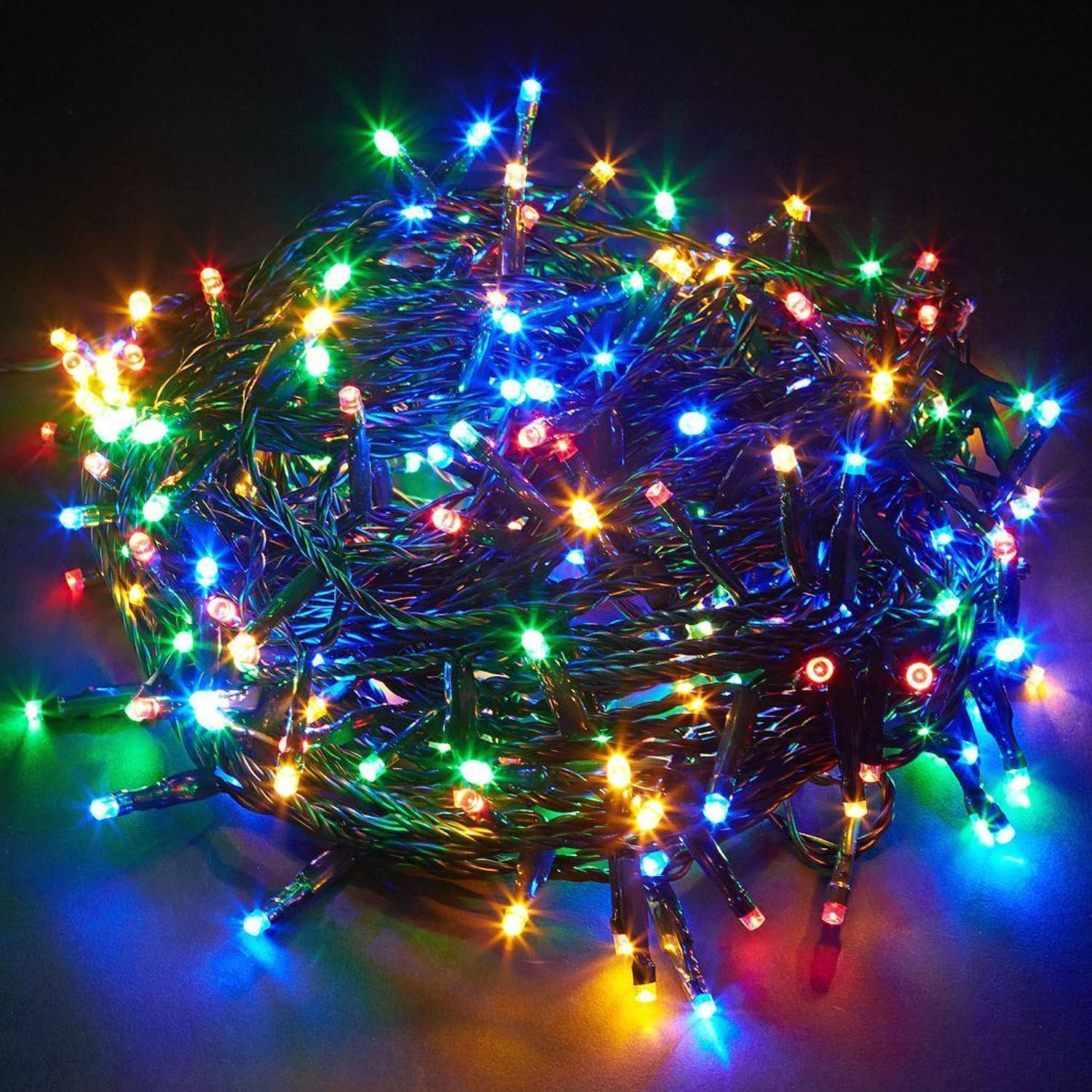 Outdoor String Lights Mains: LEDs String Multicolour Fairy Lights Outdoor Mains Plug
