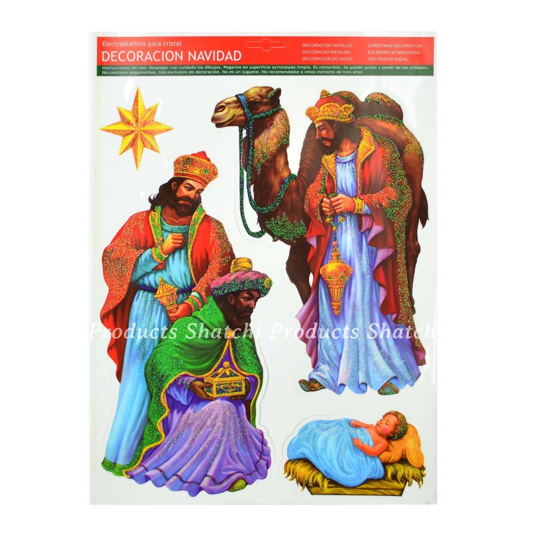 Christmas-Window-Stickers-Snowflakes-Decorations-Xmas-Home-Decor-Religious-Santa thumbnail 10