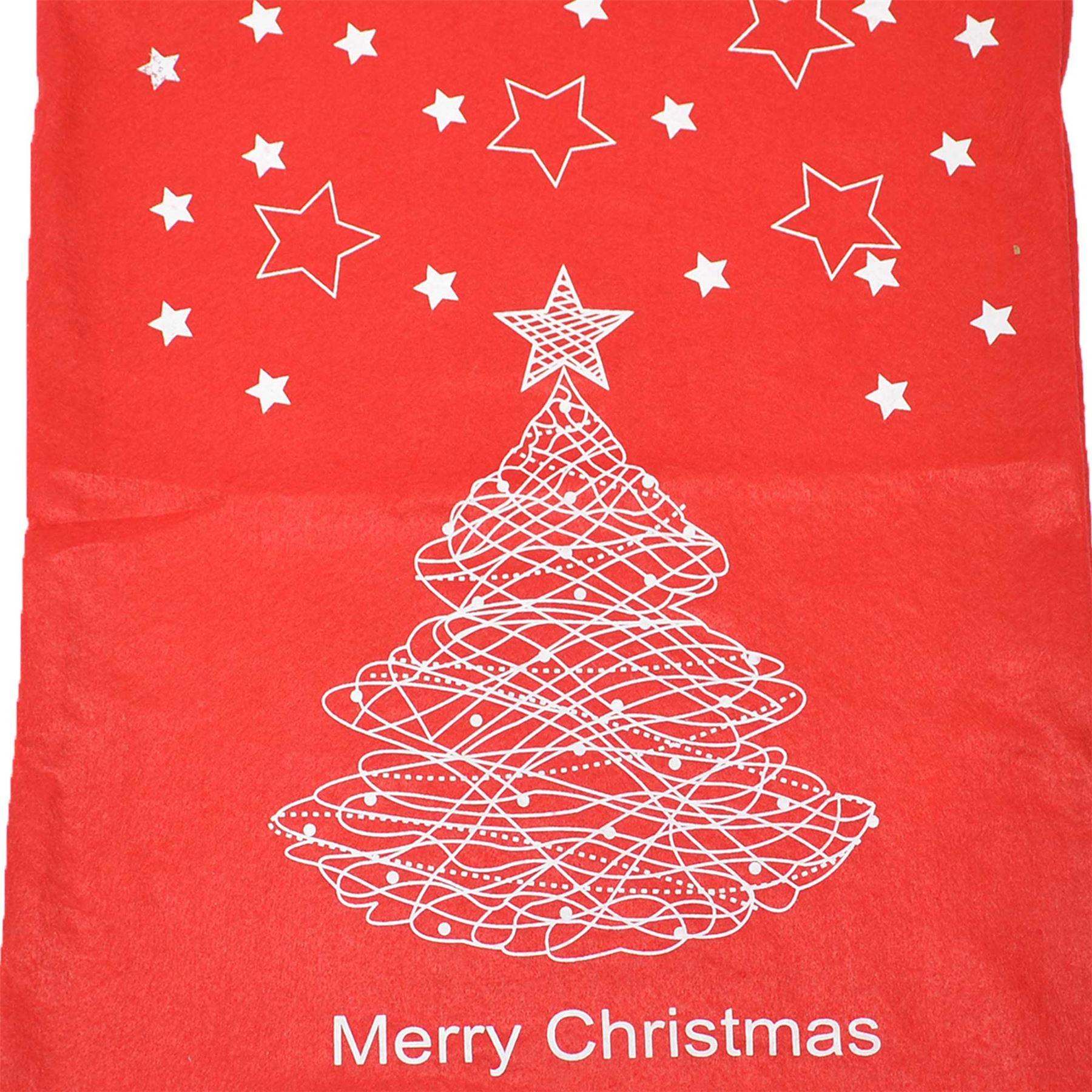 Feltro-Rosso-Buon-Natale-Babbo-Natale-Sacco-Grande-Calza-Natale-Regali-Regalo-Borse miniatura 14
