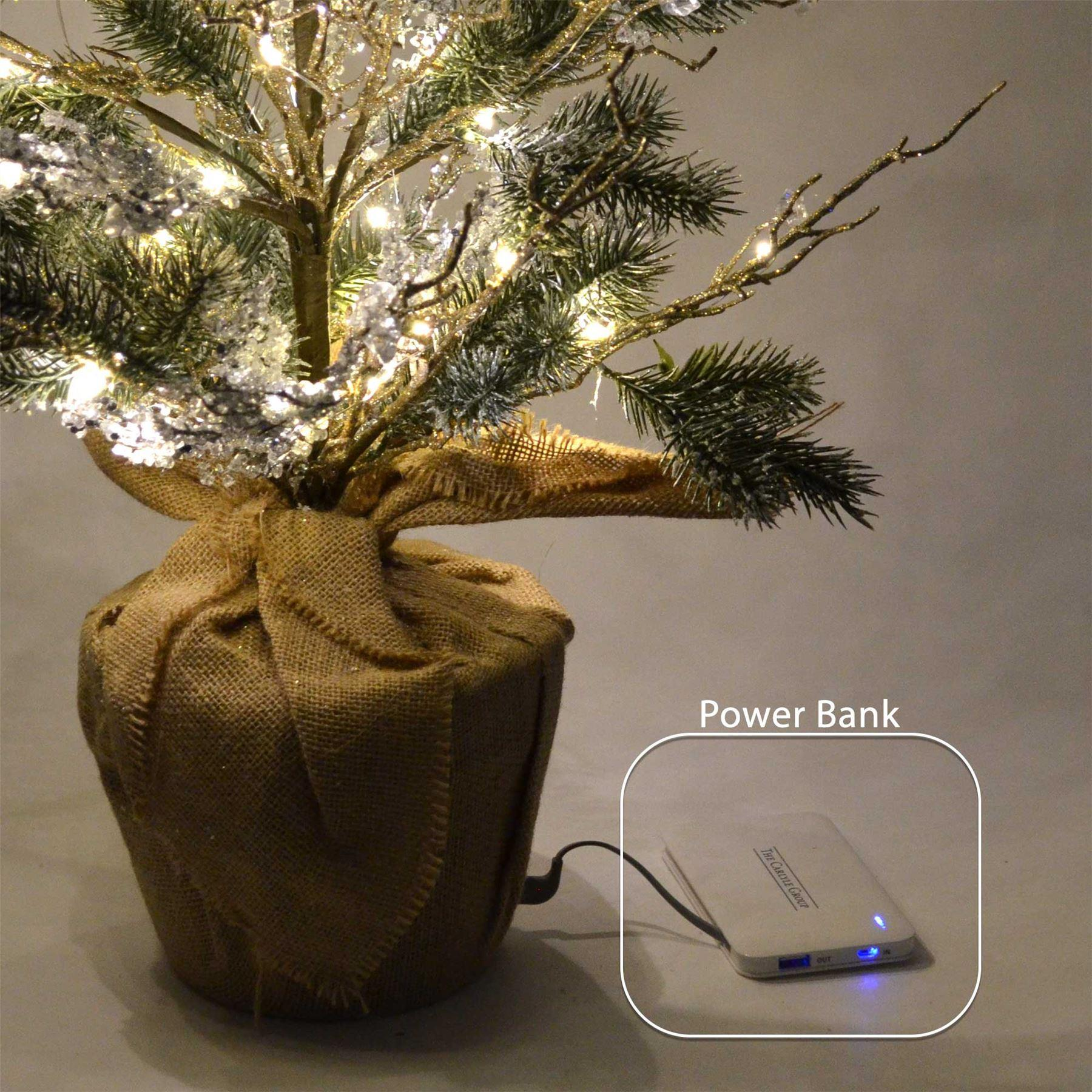 Pre-lit LED Christmas Tree Battery USB Power Bank Operated ...