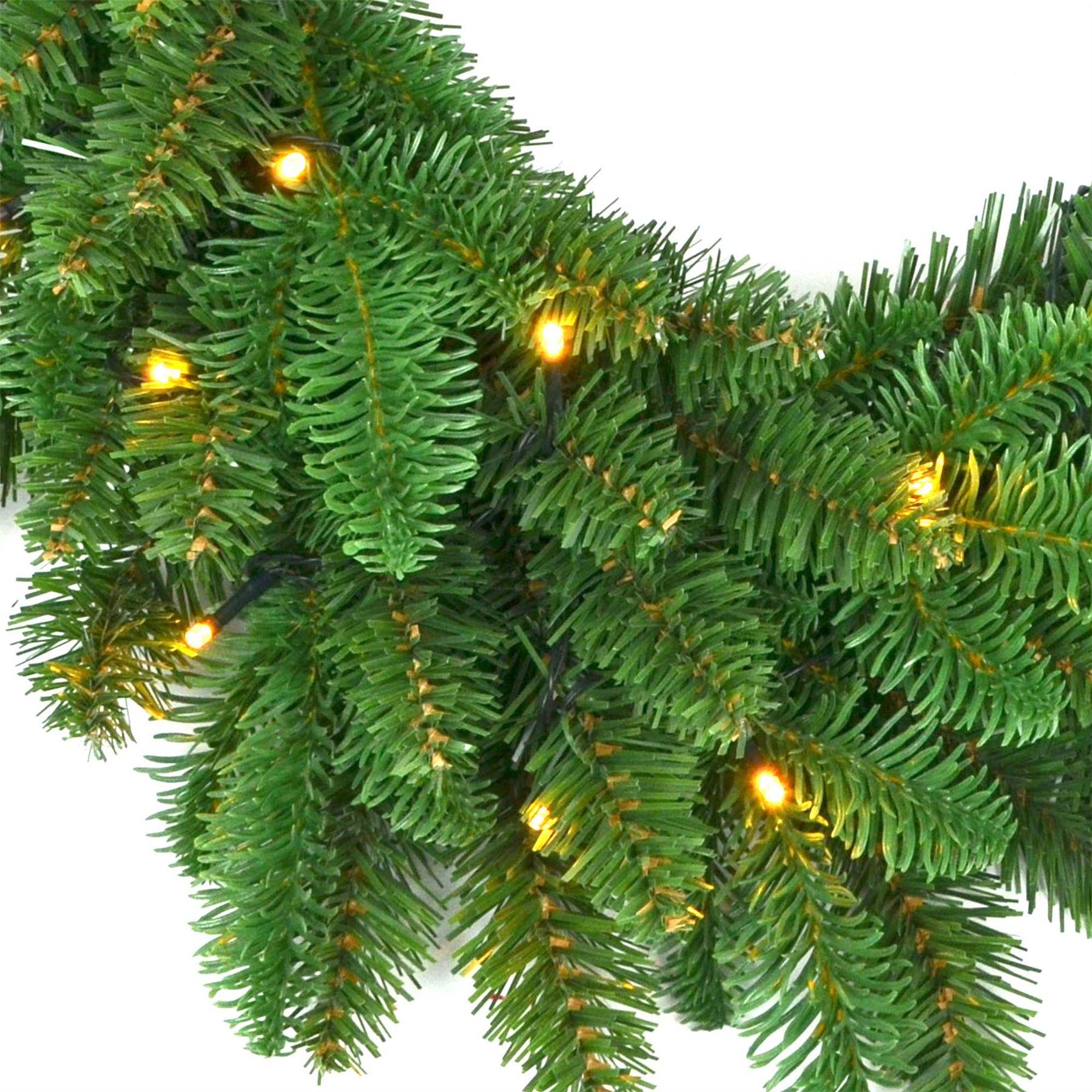 Pre-Illuminato-PRELIT-decorato-Corona-Ghirlanda-Decorazioni-Natalizie-Natale-Home-Decor-UK miniatura 10