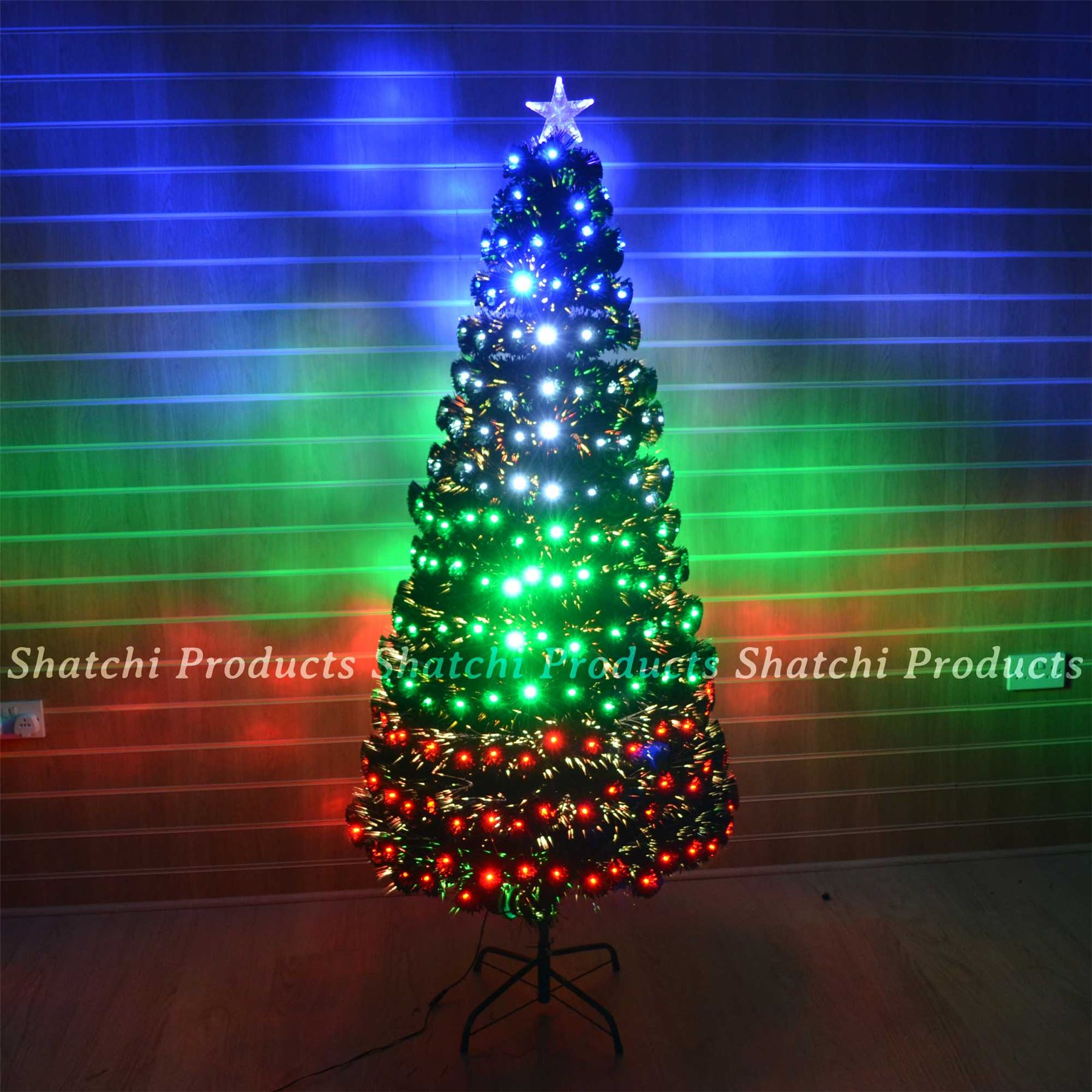 LED Fibre Optic Christmas Tree Various Design Lightings Pre Lit Home ...
