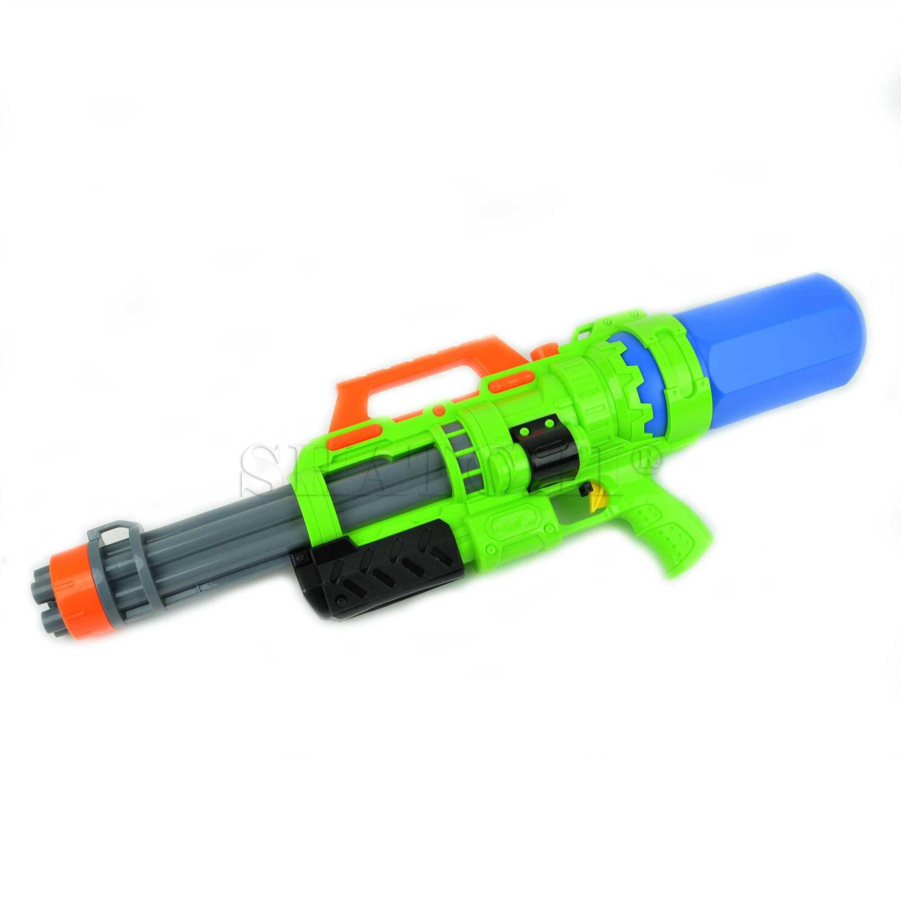 miniature 10 - Large Water Gun Pump Action Super Soaker Sprayer Backpack Outdoor Beach Garden