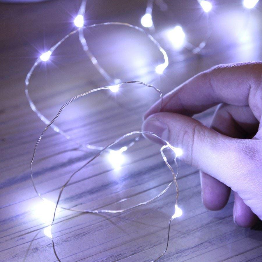 20-40-50-80-100-Batterie-DEL-Fairy-Lights-String-Fete-de-mariage-Decorations-Cuivre miniature 25