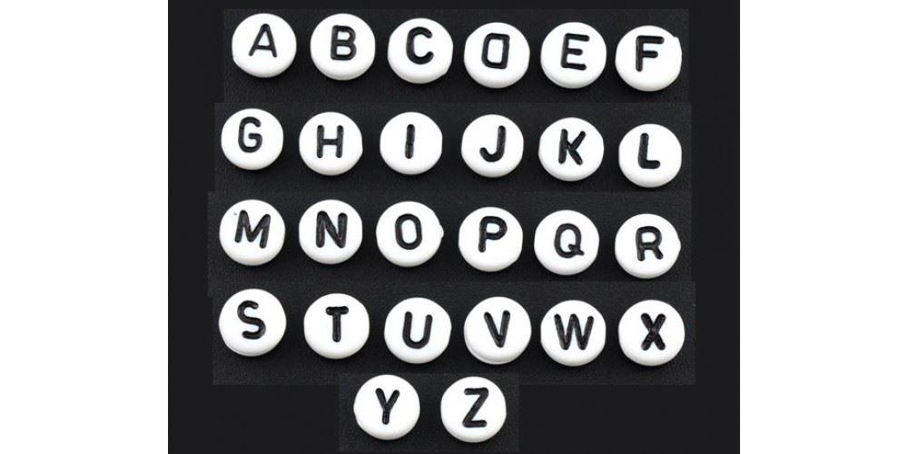 400pcs-Alphabet-Letters-Round-Beads-6-5mm-Acrylic-jewellery-Making-Art-amp-Craft thumbnail 14