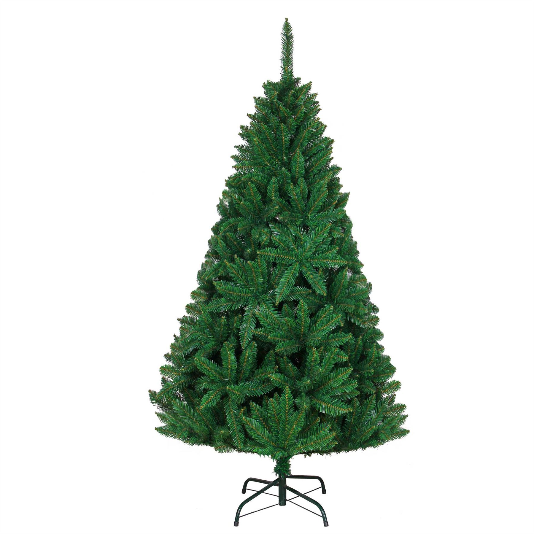 Artificial Christmas Tree Decorated Snow White Traditional Xmas ...