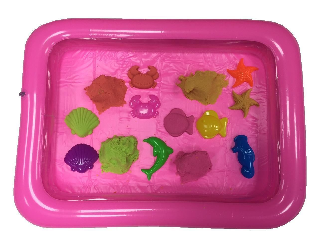 Inflatable-Magic-Motion-Moving-Sand-Blow-Up-Play-Tray-Sandbox-Plate-Kids-Toys