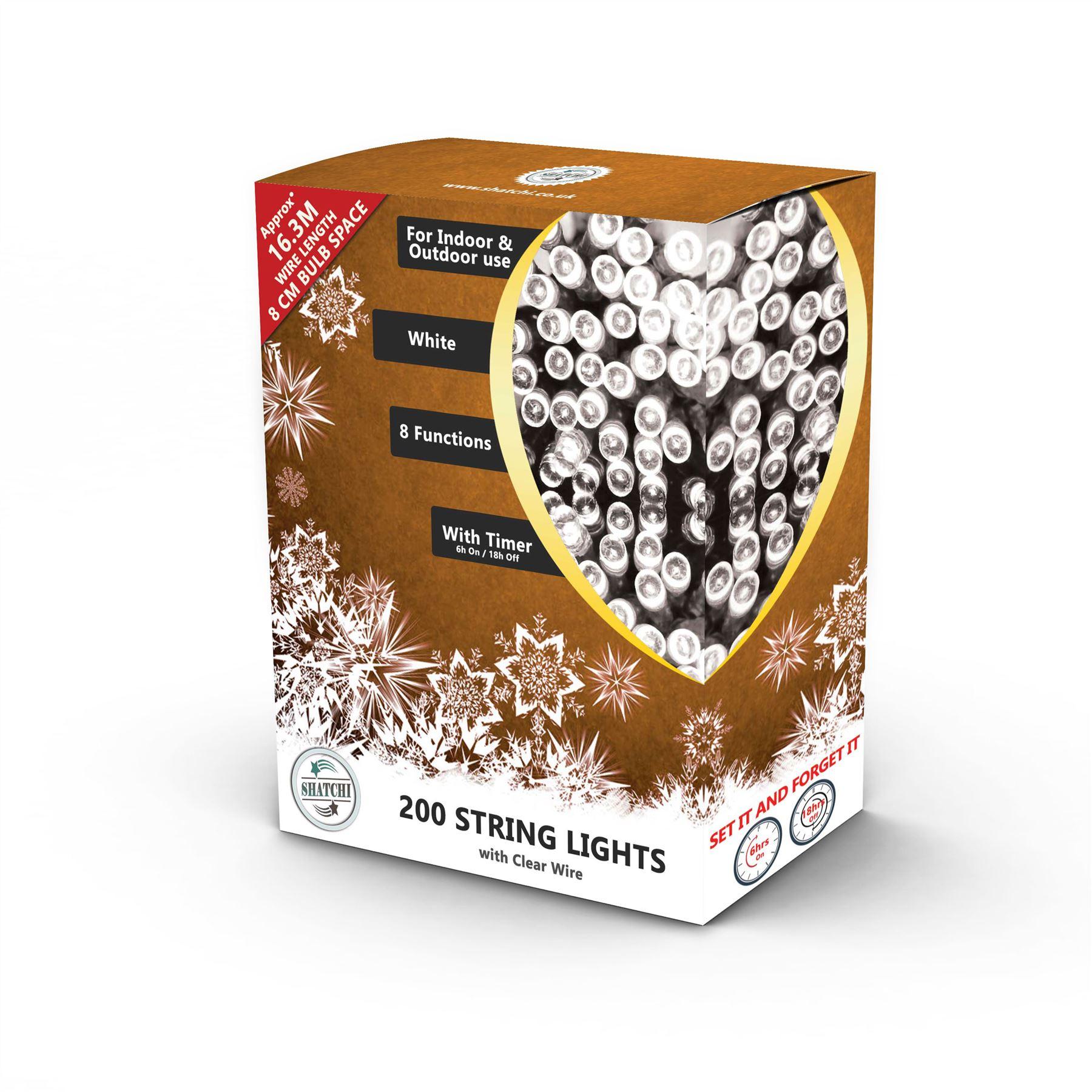 100-200-300-400-500-LED-Christmas-String-Fairy-Lights-Xmas-Decorations-Tree miniature 22