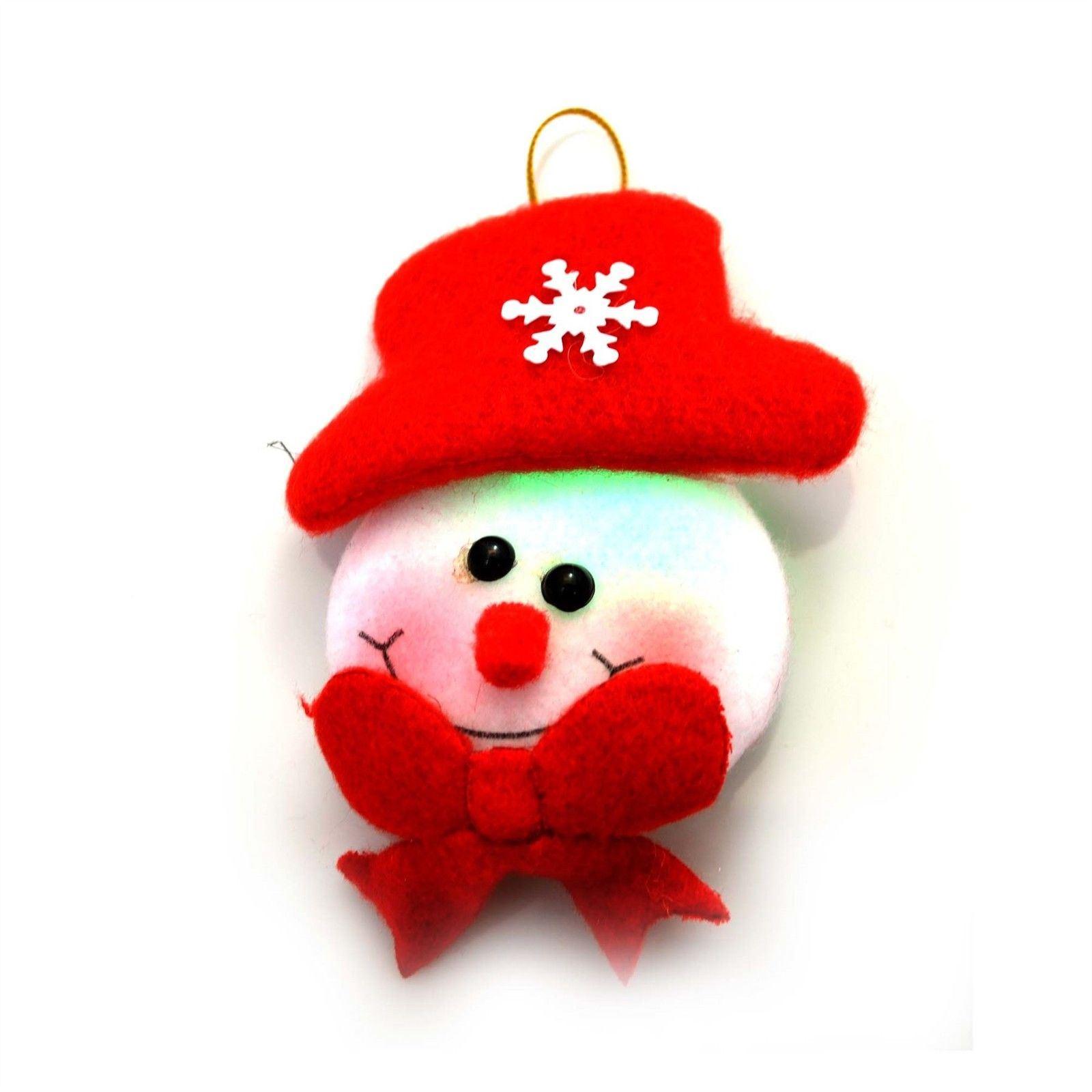 Christmas-Tree-Hanging-Decorations-Glitter-Snowman-Xmas-Beads-Chain-Garland thumbnail 16
