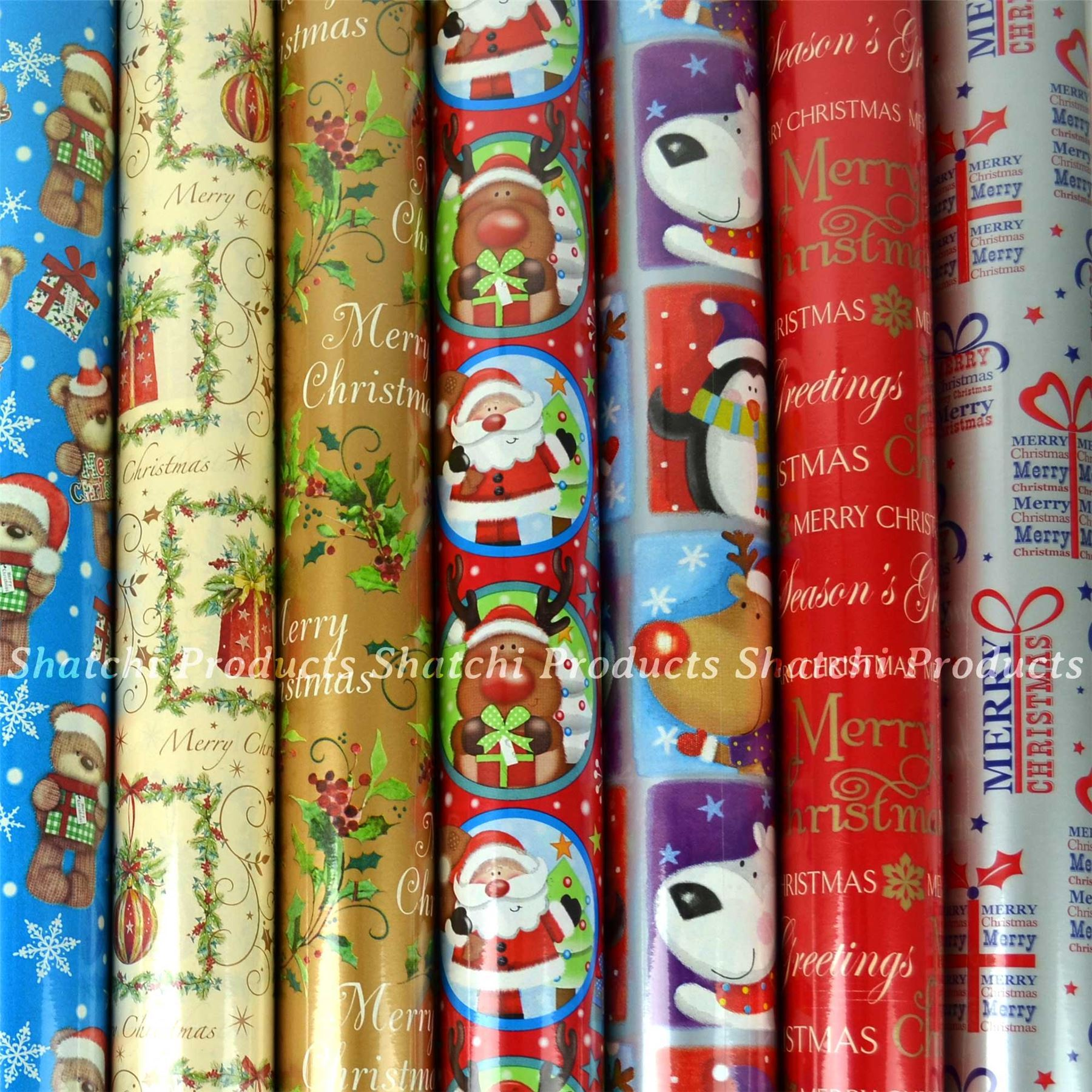10M-Natale-Regalo-Wrap-Assortiti-ROTOLI-DI-CARTA-DA-PACCO-ROTOLO-REGALO-DI-NATALE miniatura 29