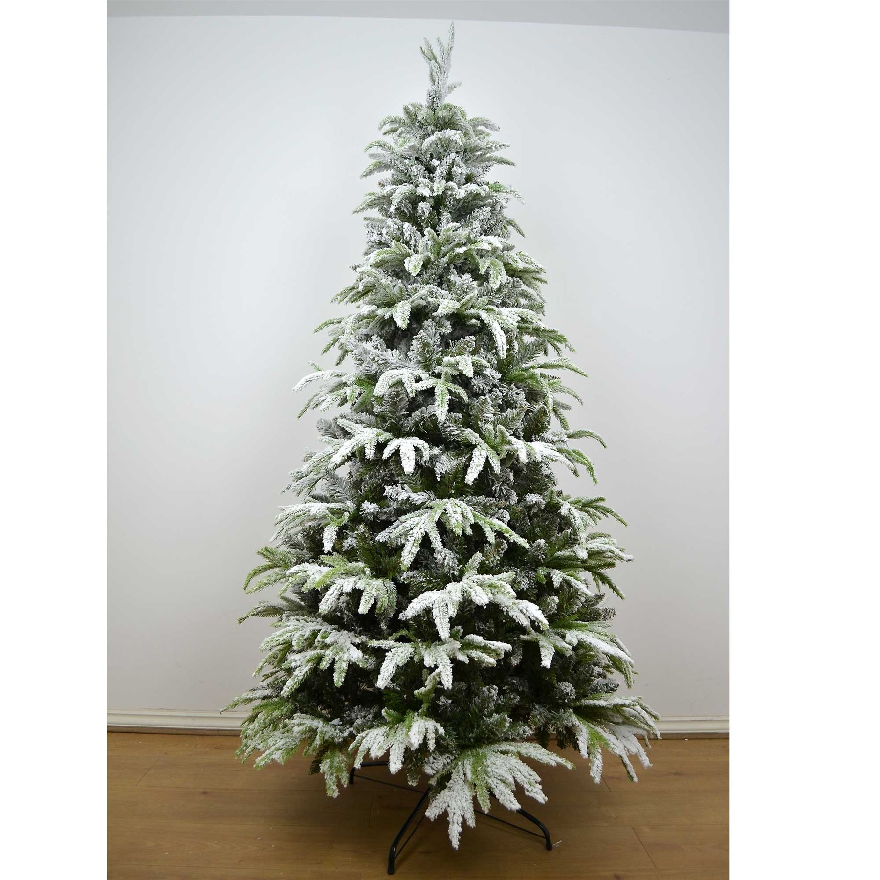 Real Look Designer Artificial Christmas Tree Snow Covered ...