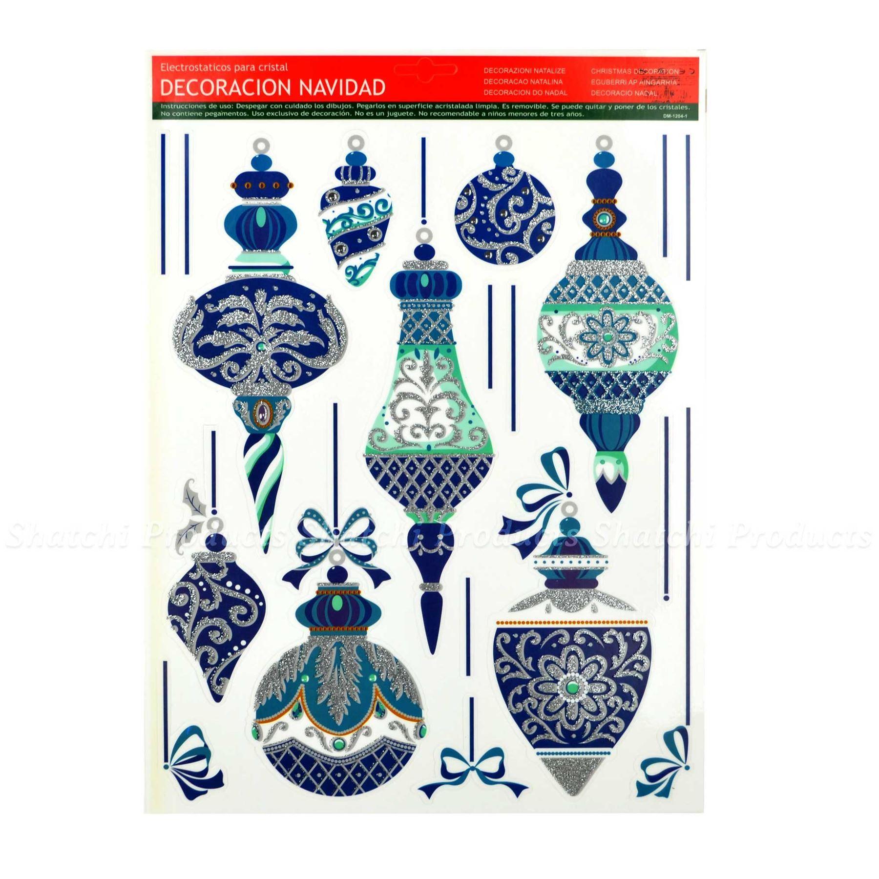 Christmas-Window-Stickers-Snowflakes-Decorations-Xmas-Home-Decor-Religious-Santa thumbnail 3