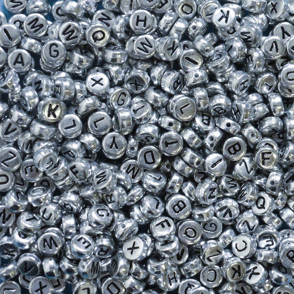 400pcs-Alphabet-Letters-Round-Beads-6-5mm-Acrylic-jewellery-Making-Art-amp-Craft thumbnail 10