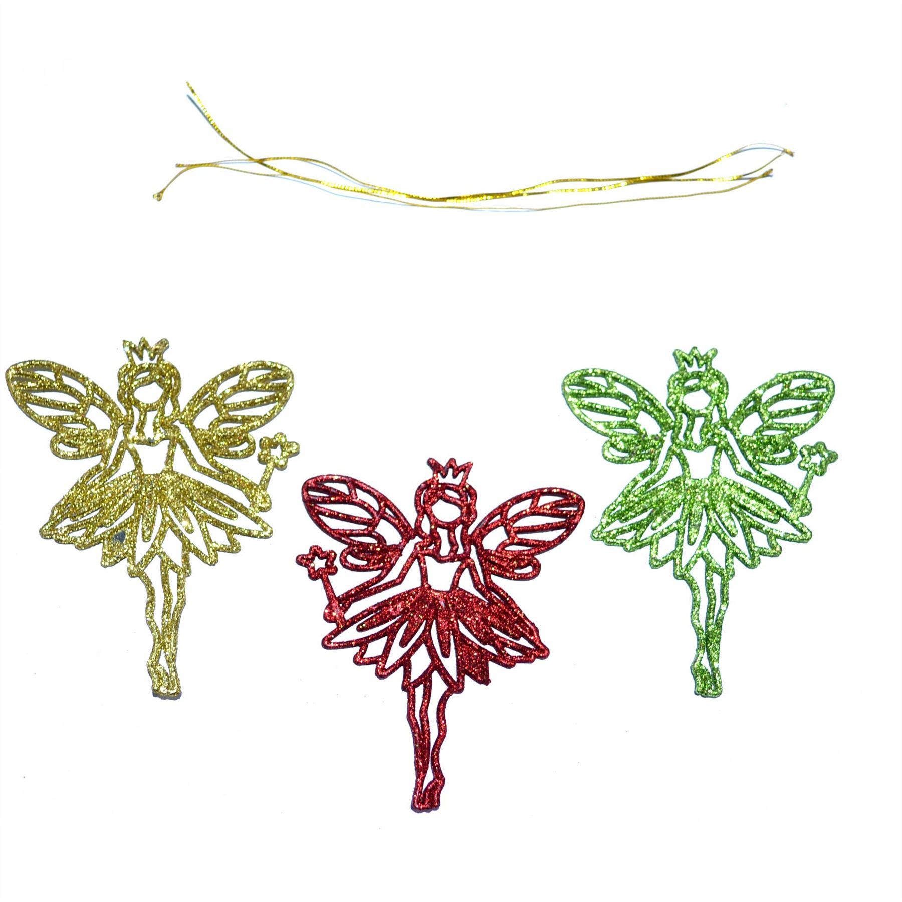 Christmas-Tree-Hanging-Decorations-Glitter-Snowman-Xmas-Beads-Chain-Garland thumbnail 3