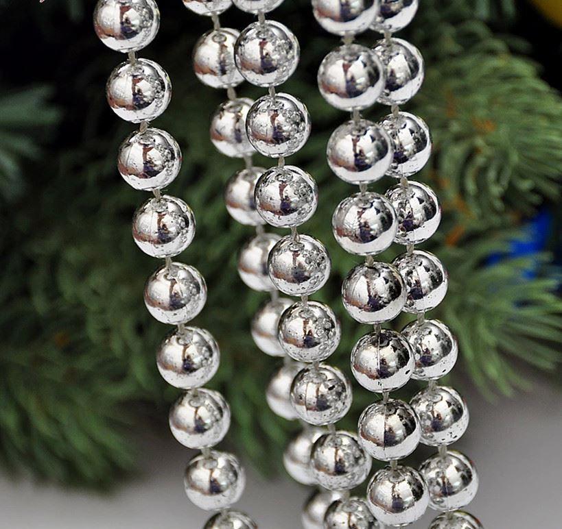 24-FT-environ-7-32-m-8-M-perle-boule-chaine-Guirlande-Arbre-de-Noel-Suspendu-Decorations-de-Noel miniature 8