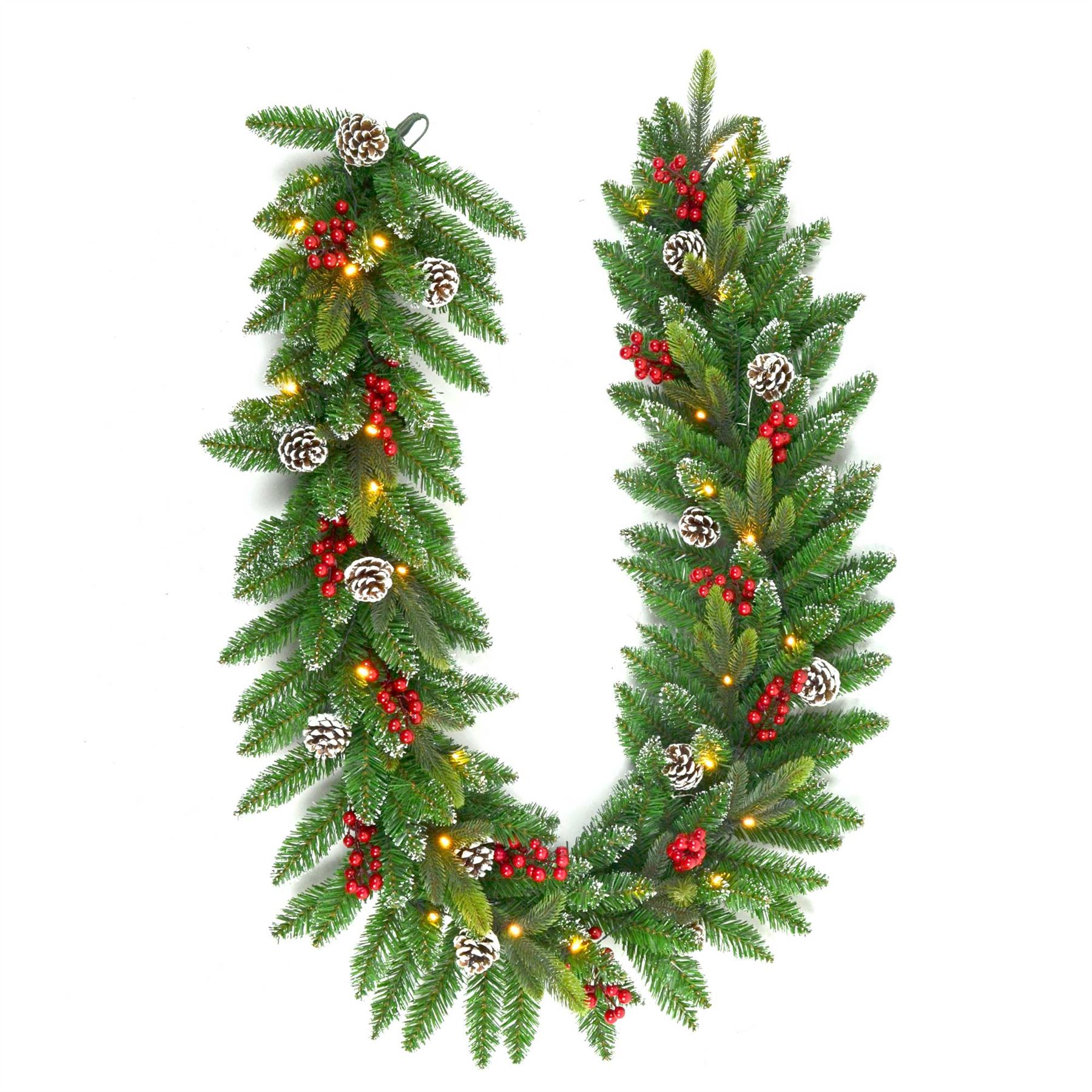 Christmas tree pre lit decorated garland wreath xmas home