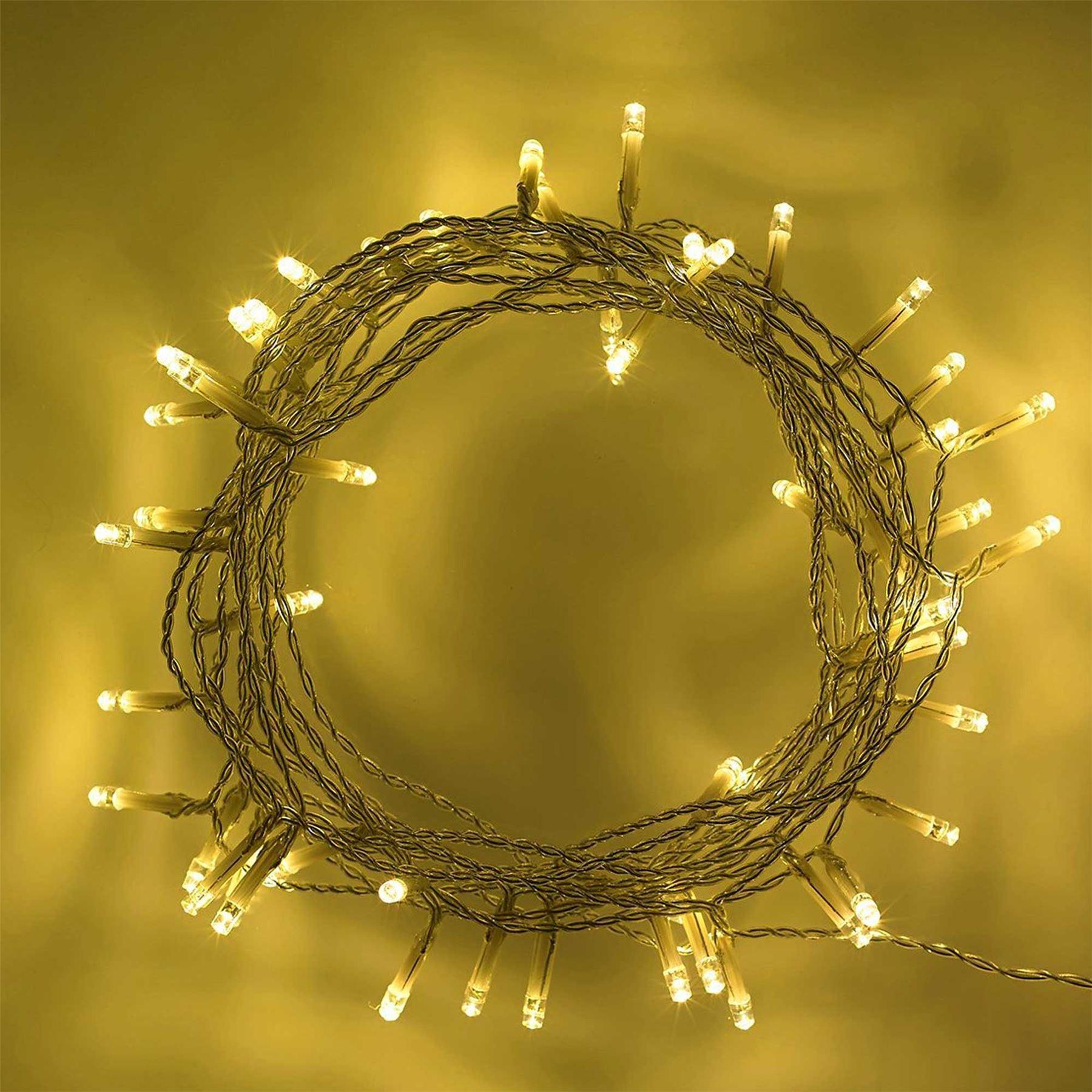 20-40-50-80-100-Batterie-DEL-Fairy-Lights-String-Fete-de-mariage-Decorations-Cuivre miniature 14