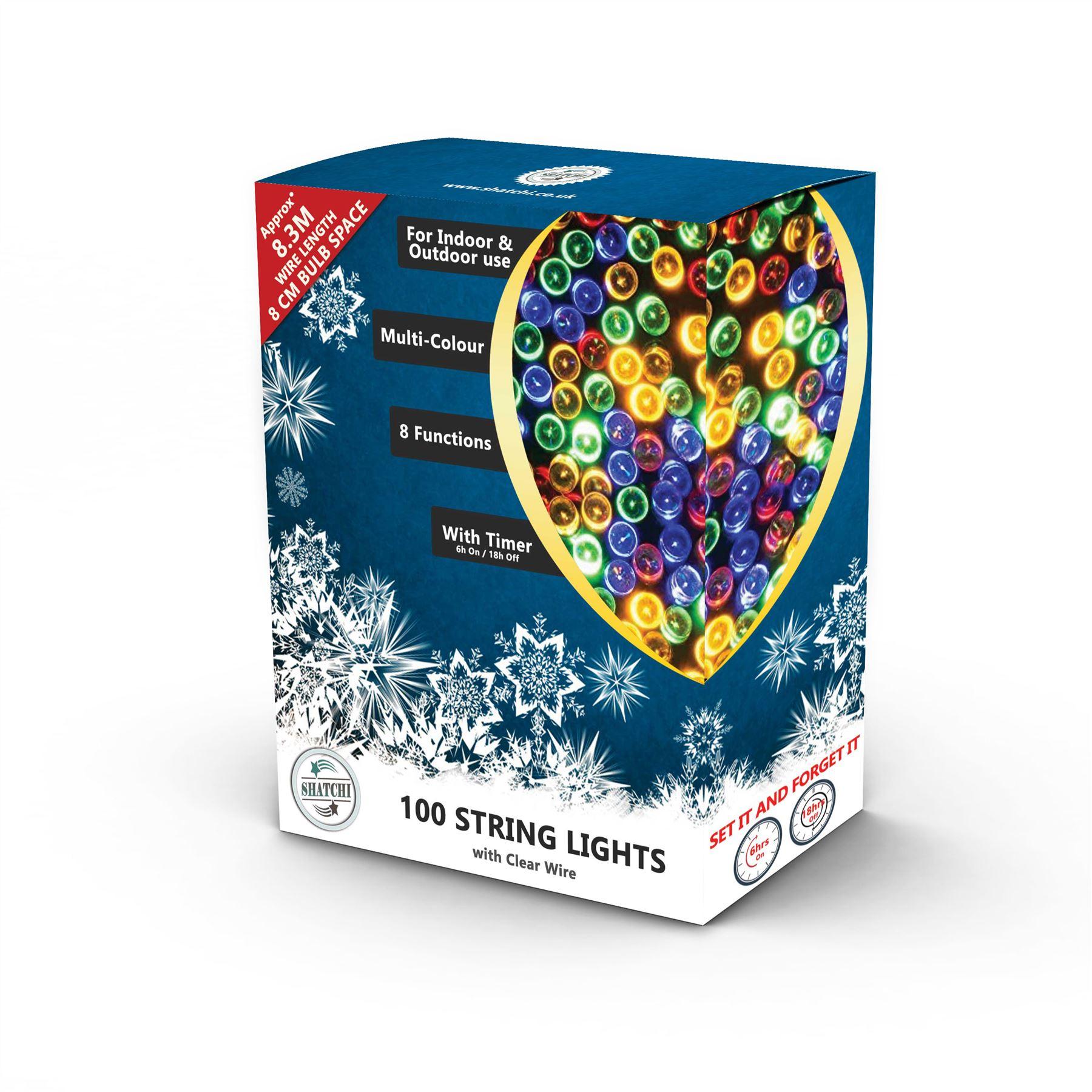 100-200-300-400-500-LED-Christmas-String-Fairy-Lights-Xmas-Decorations-Tree miniature 31