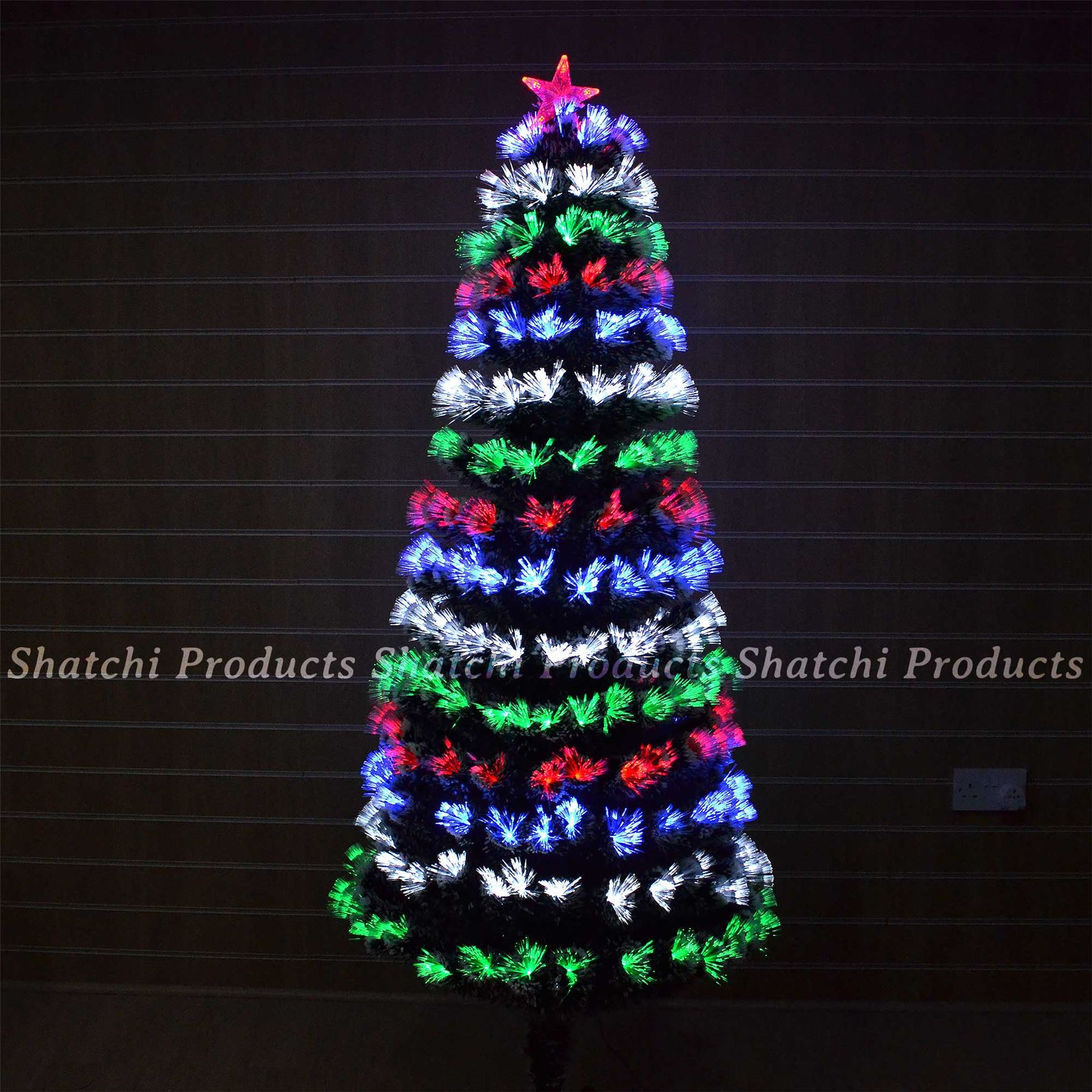 Artificial Christmas Tree Elegant/LED Fibre Optic Pre Lit ...