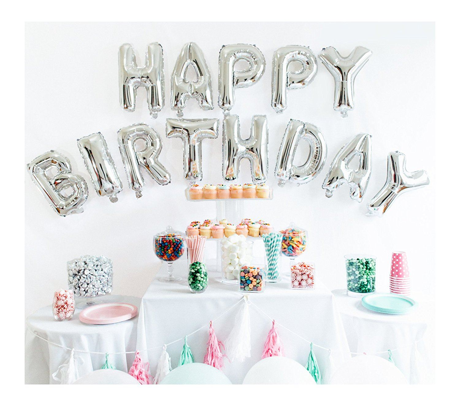 LARGE HAPPY BIRTHDAY SELF INFLATING BALLOON BANNER BUNTING