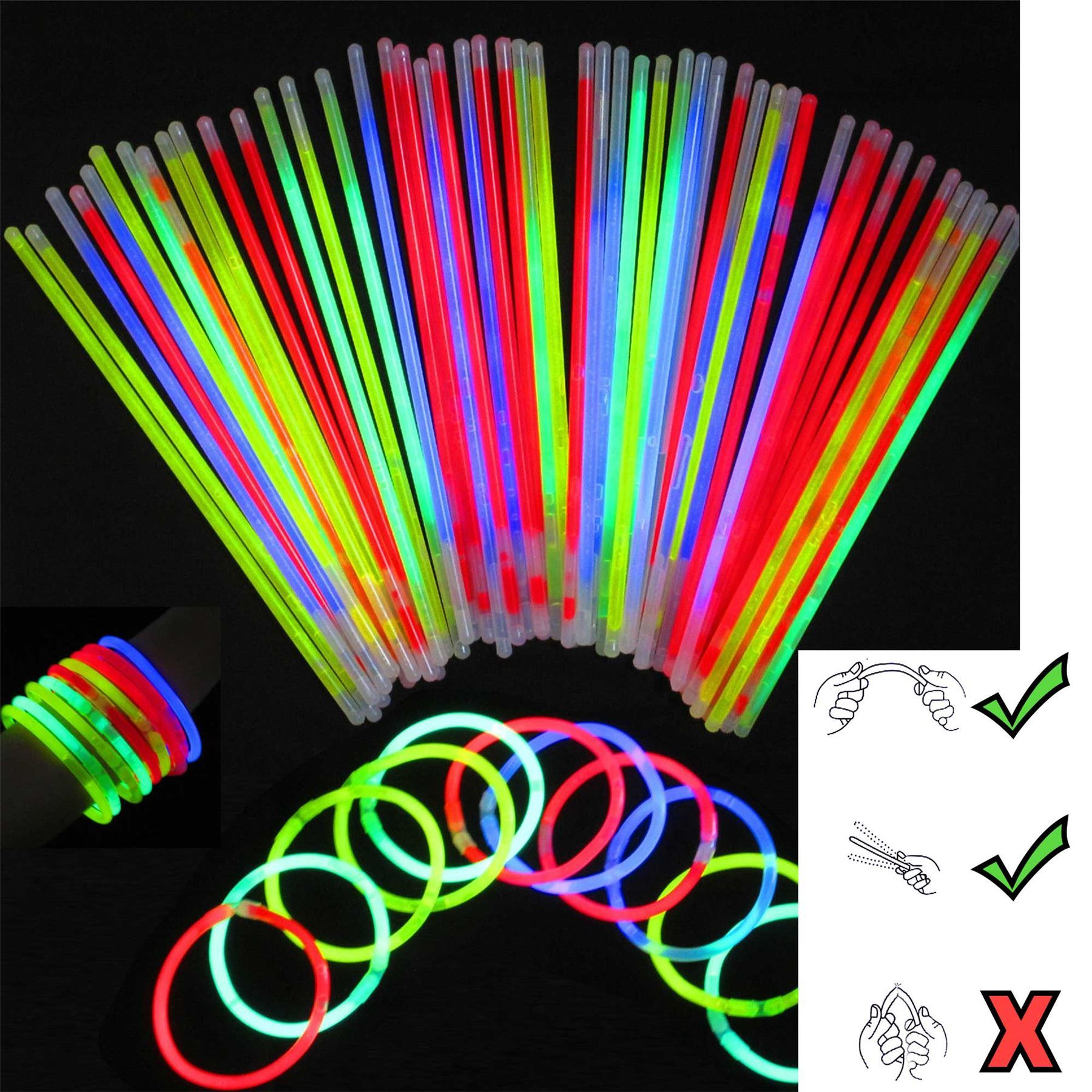 necklace bracelets toys com up glow sticks amazon light glowstick dp games