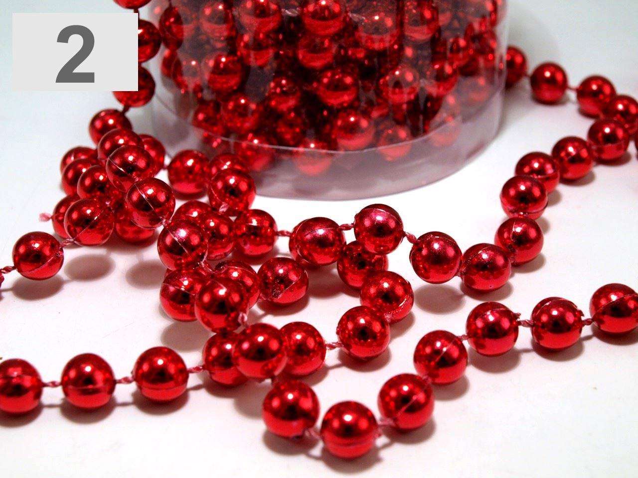 24FT-8M-Perline-a-Sfera-Catena-Ghirlanda-per-albero-di-Natale-da-appendere-DECORAZIONI-NATALE-NOZZE miniatura 6