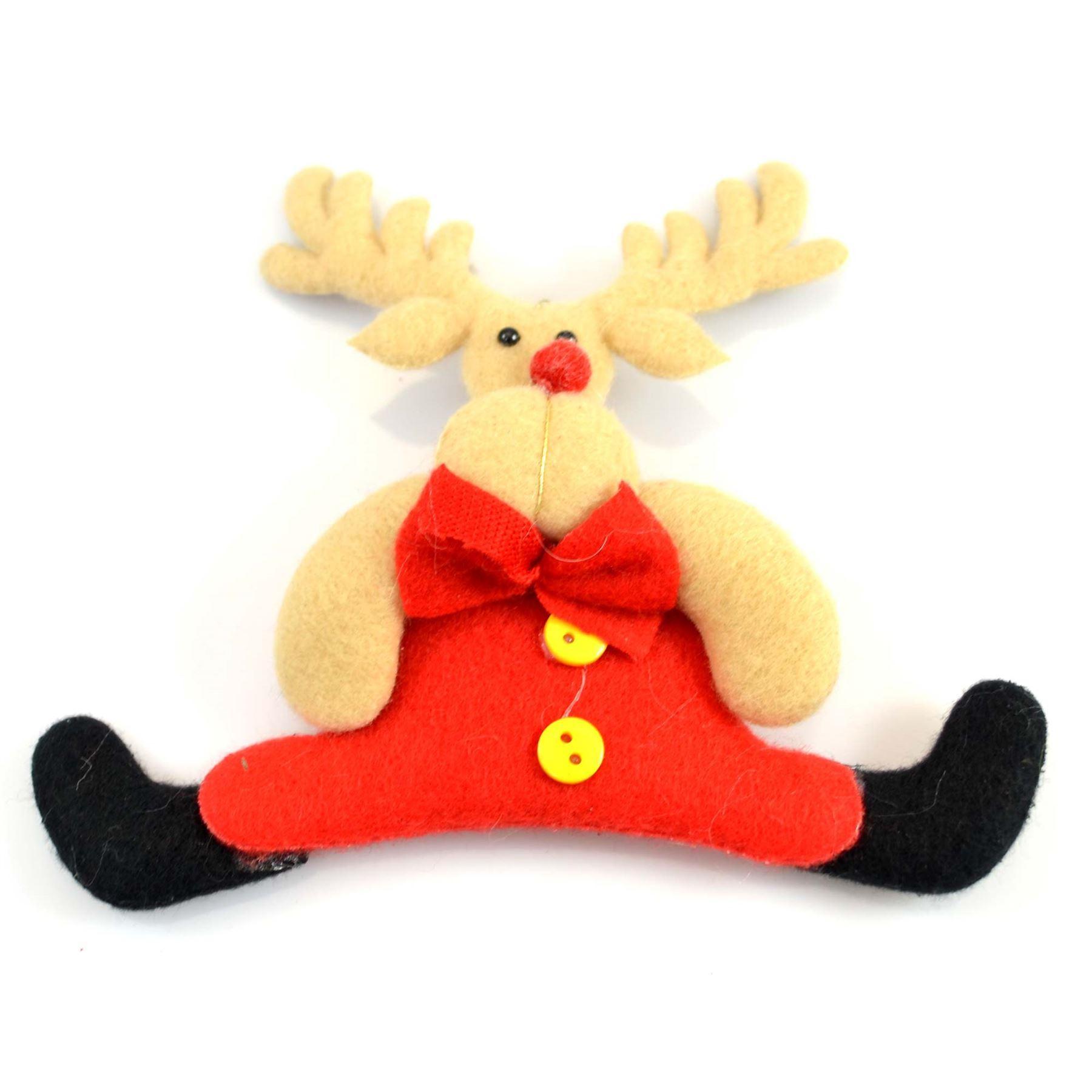 Christmas-Tree-Hanging-Decorations-Glitter-Snowman-Xmas-Beads-Chain-Garland thumbnail 24