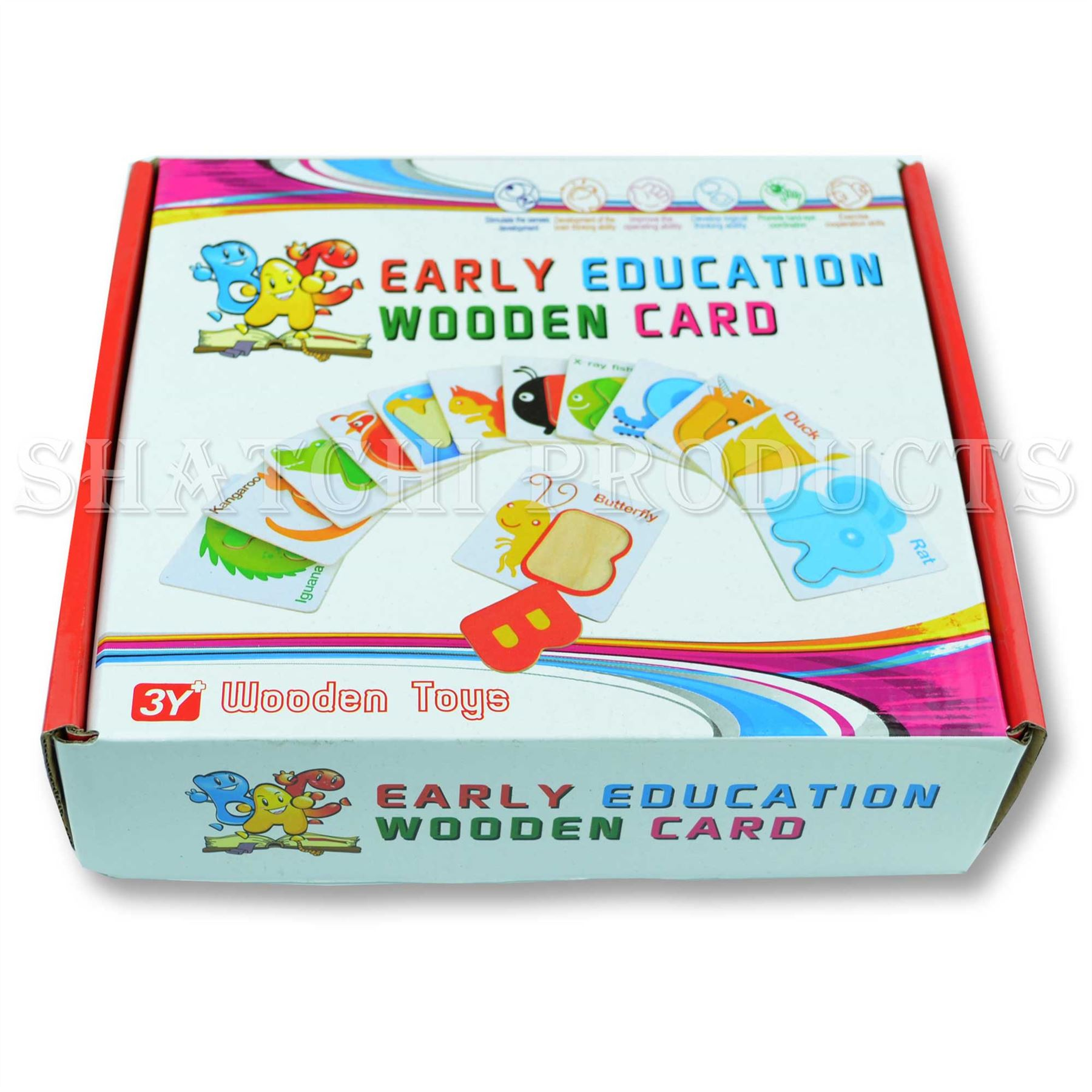 Wooden Kids Preschool Educational Early Learning Toys Christmas