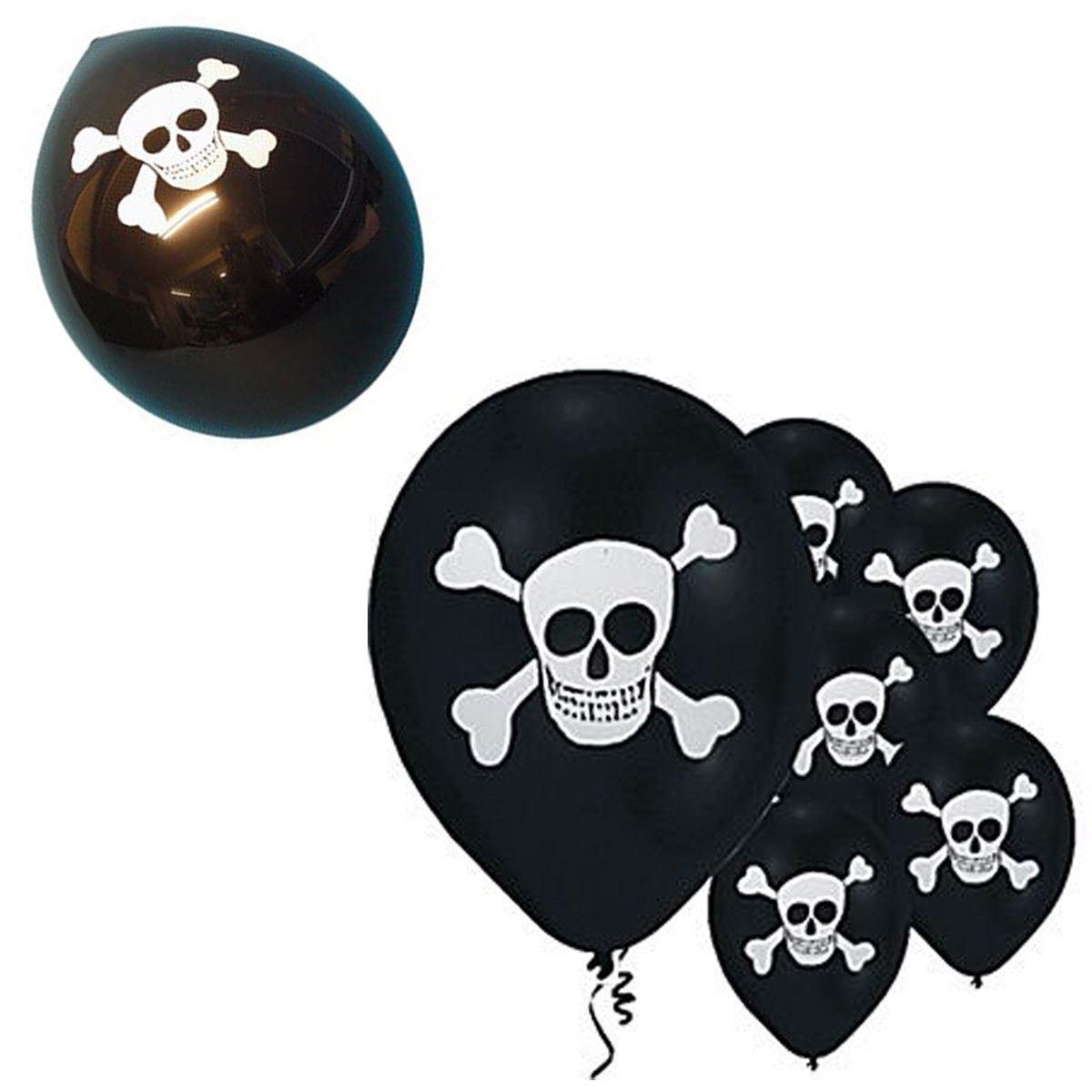 Halloween Balloons Spooky Decoration Black Orange Cobweb