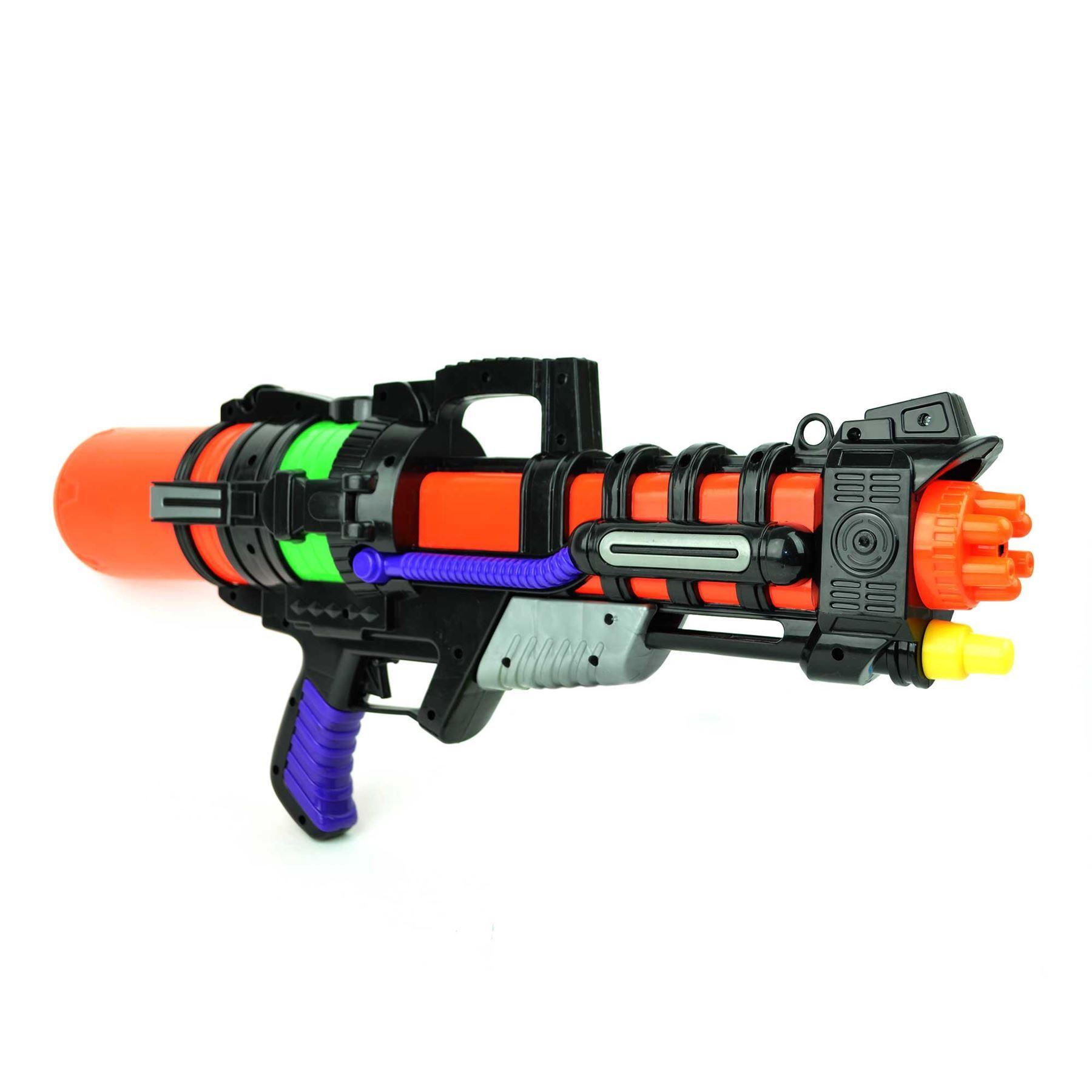 miniature 22 - Large Water Gun Pump Action Super Soaker Sprayer Backpack Outdoor Beach Garden