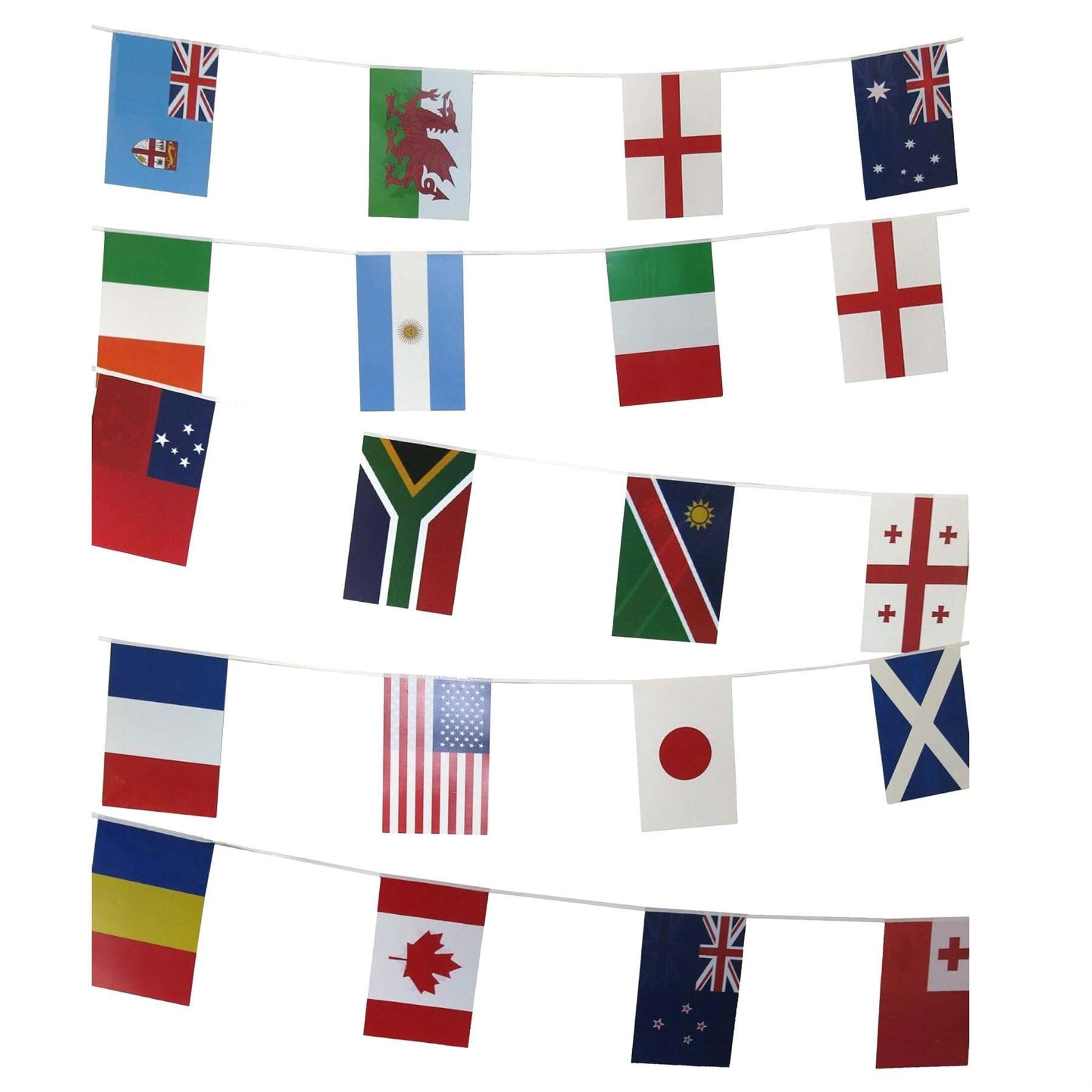 Large-5ft-x-3ft-Country-Flags-Buntings-Decoration-Teams-For-2019-Rugby-World-Cup miniatuur 46