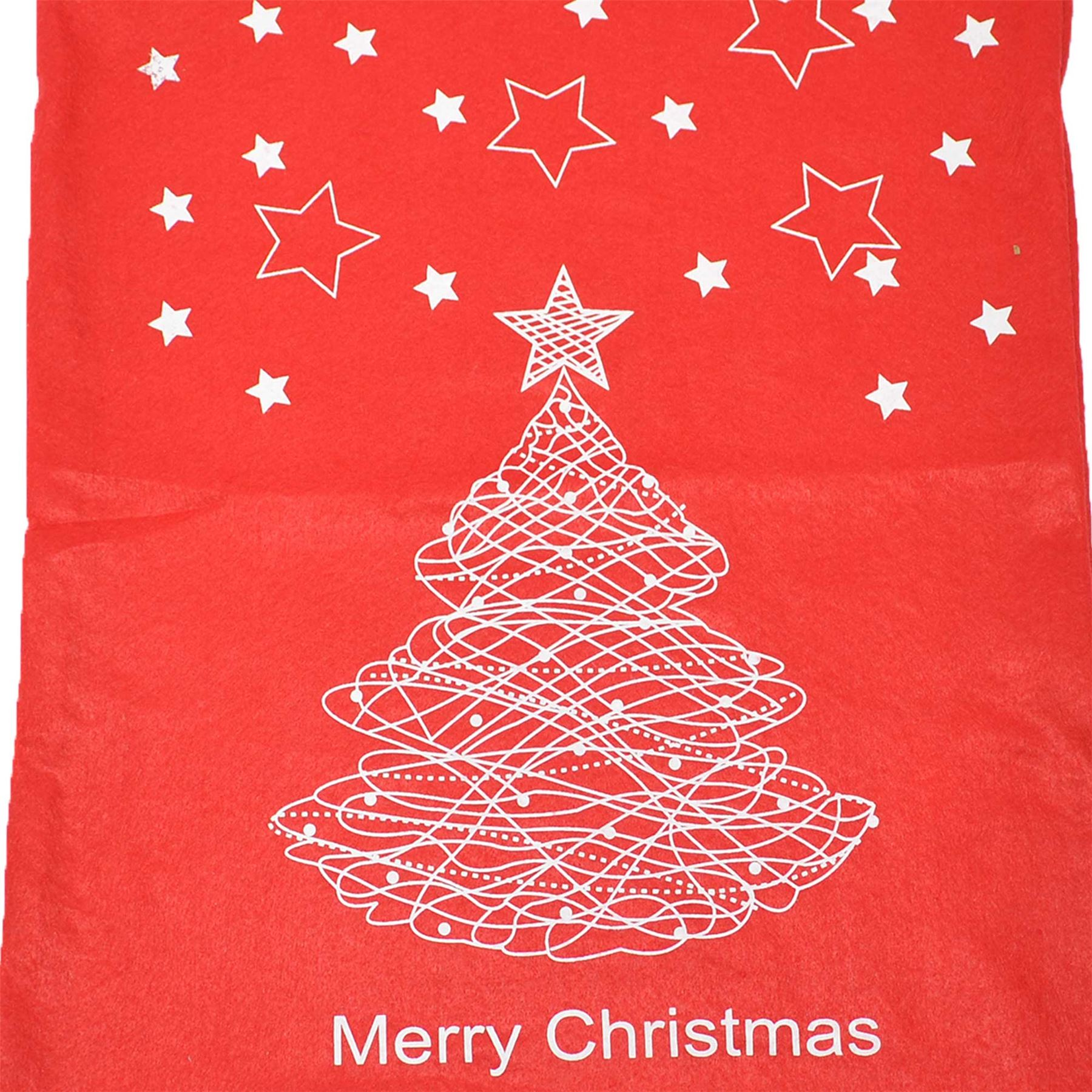 Feltro-Rosso-Buon-Natale-Babbo-Natale-Sacco-Grande-Calza-Natale-Regali-Regalo-Borse miniatura 5