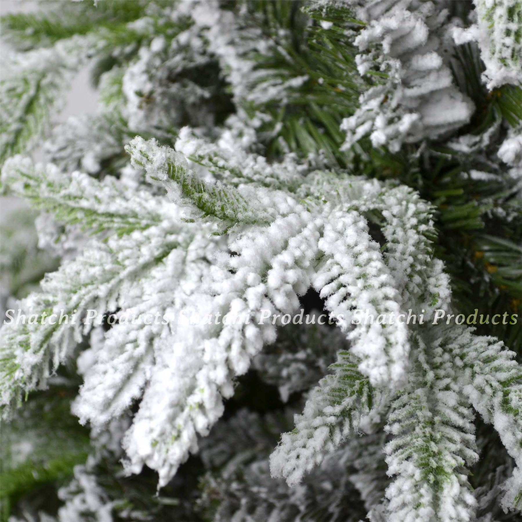 Real Looking Fake Christmas Trees: Real Look Designer Artificial Christmas Tree Snow Covered