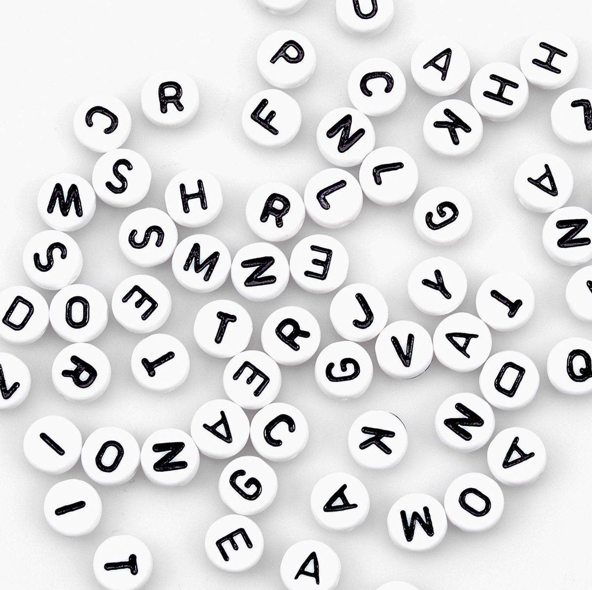 400pcs-Alphabet-Letters-Round-Beads-6-5mm-Acrylic-jewellery-Making-Art-amp-Craft thumbnail 13