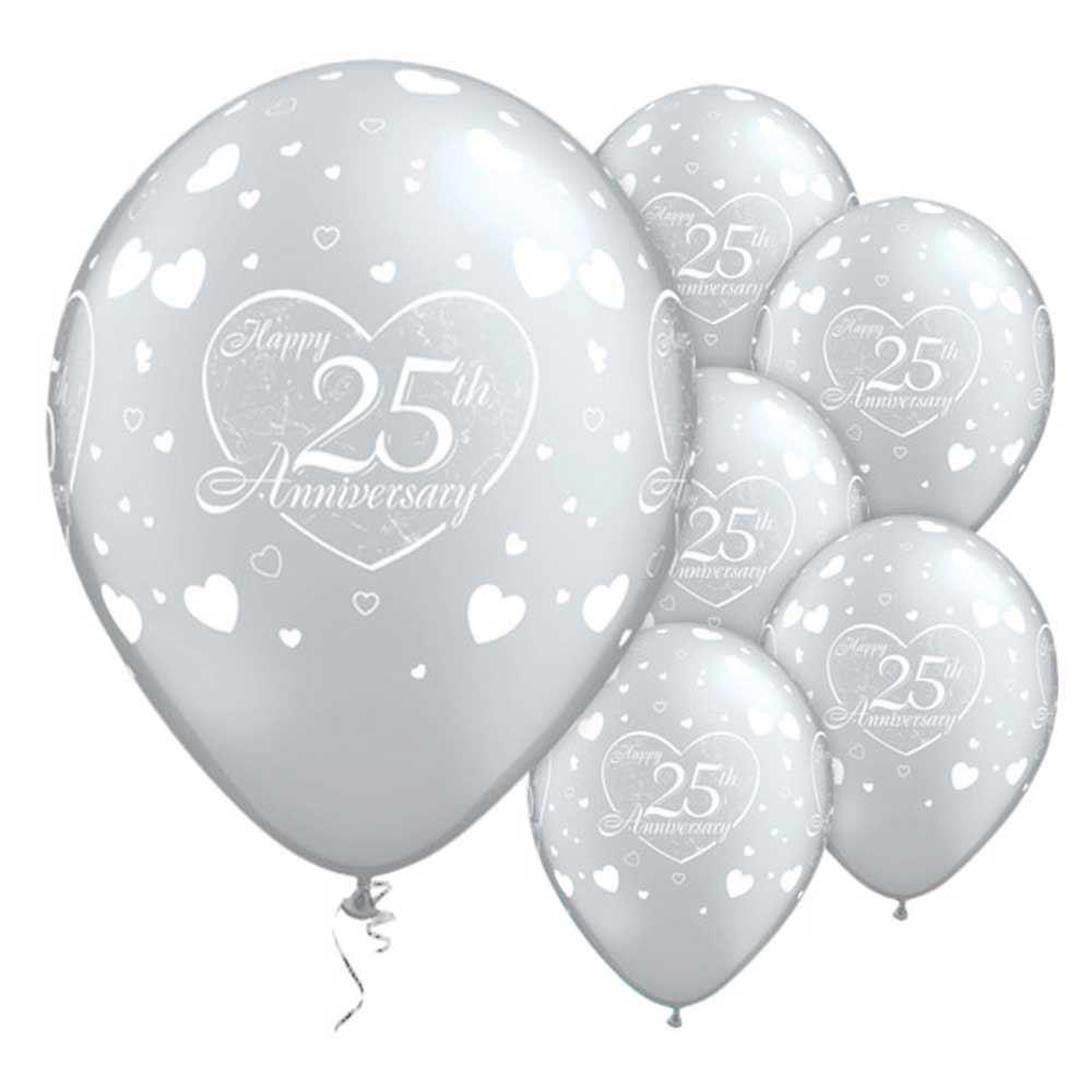 25th Silver Anniversary Latex Balloons Party Decorations Idea 25 | eBay