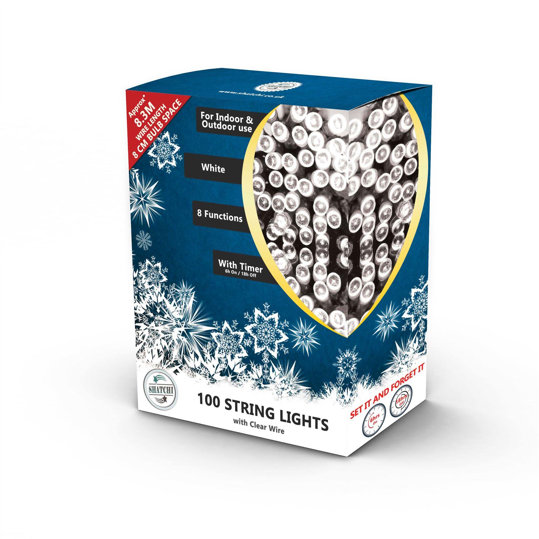 100-200-300-400-500-LED-Christmas-String-Fairy-Lights-Xmas-Decorations-Tree miniature 15
