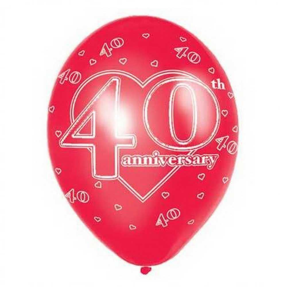 25th Silver Wedding Anniversary Printed Balloons Party Decorations ...