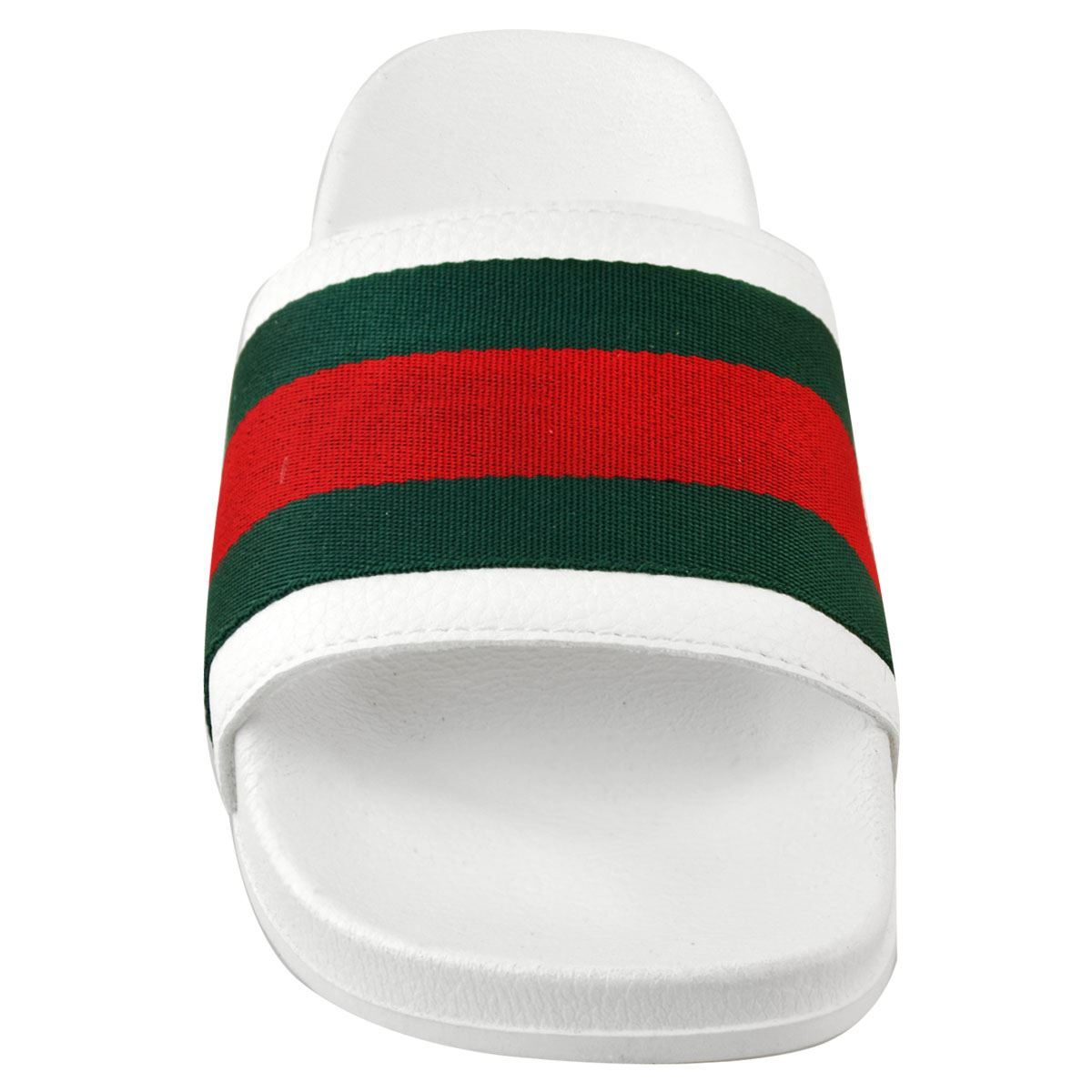 Mens-Guys-Flat-Rubber-Slides-Sliders-Stripe-Sandals-Pool-Beach-Designer-New-Size thumbnail 16