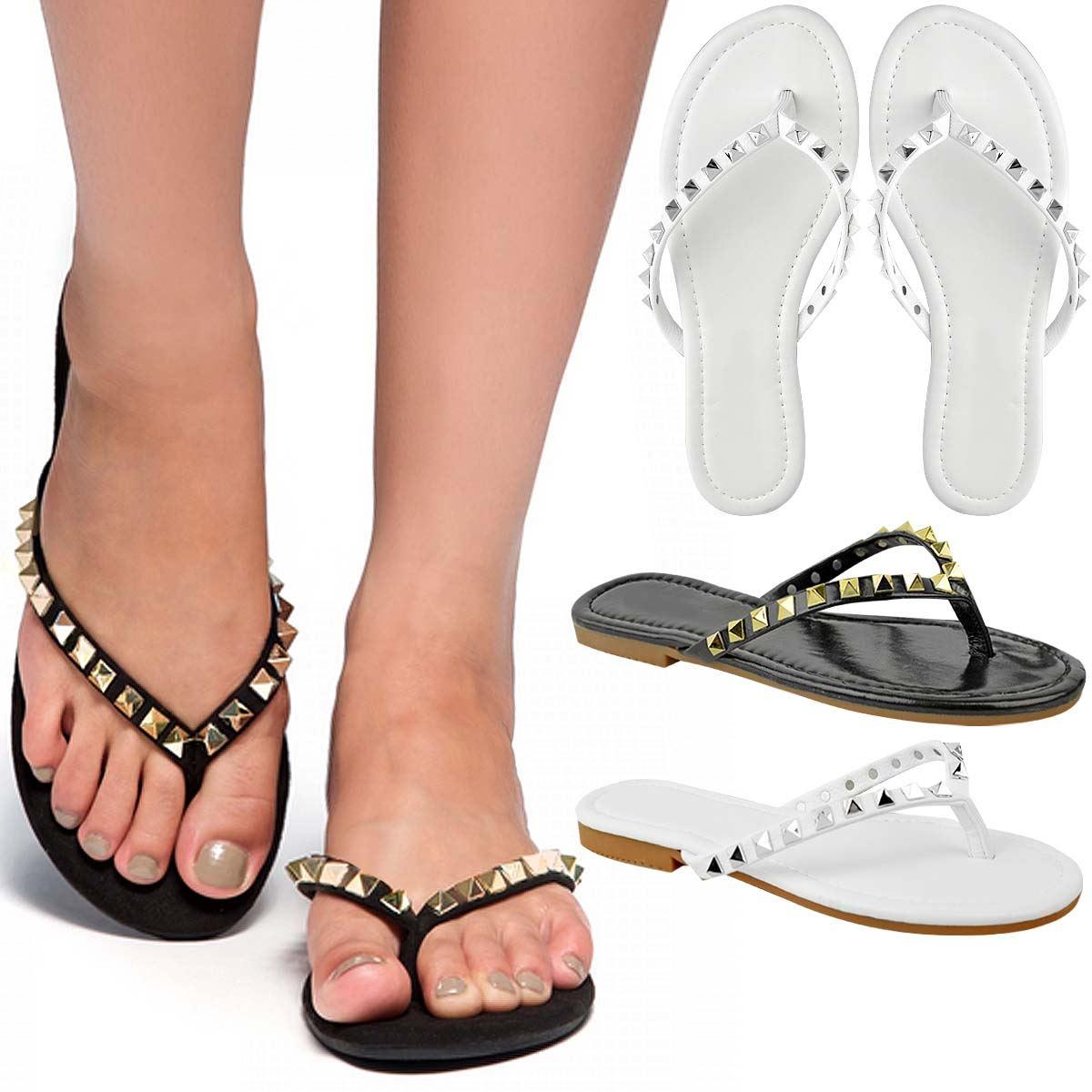 Men/Women New Womens Ladies Flat Studded Thong Toe Flip Post Sandals Summer Casual Flip Toe Flops Crazy price, Birmingham Low price Good quality NR141 eae390