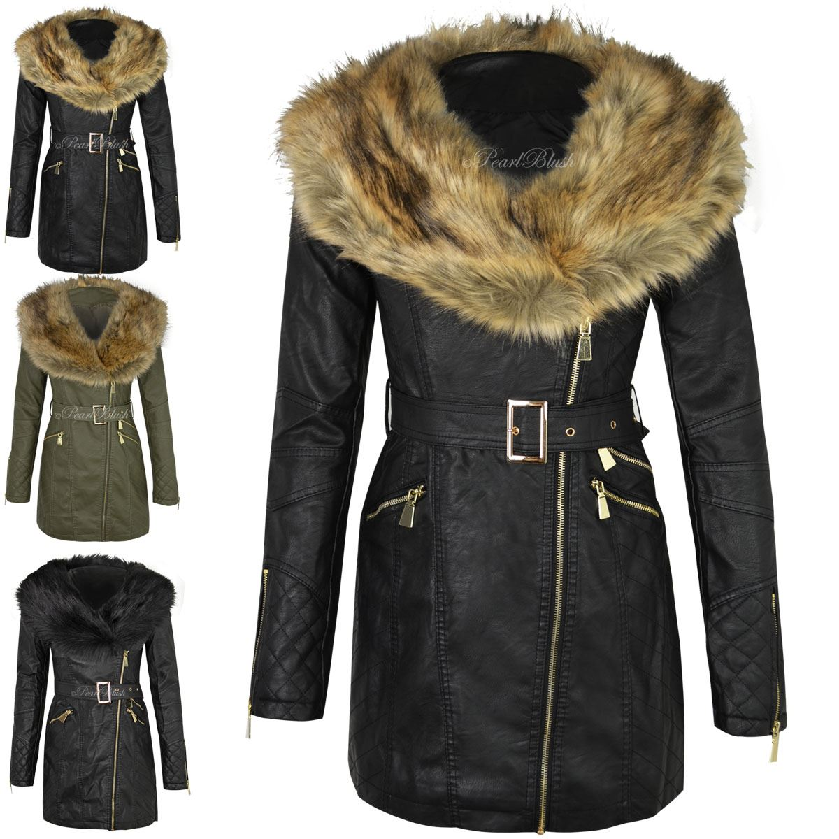 Womens leather jackets with fur collar