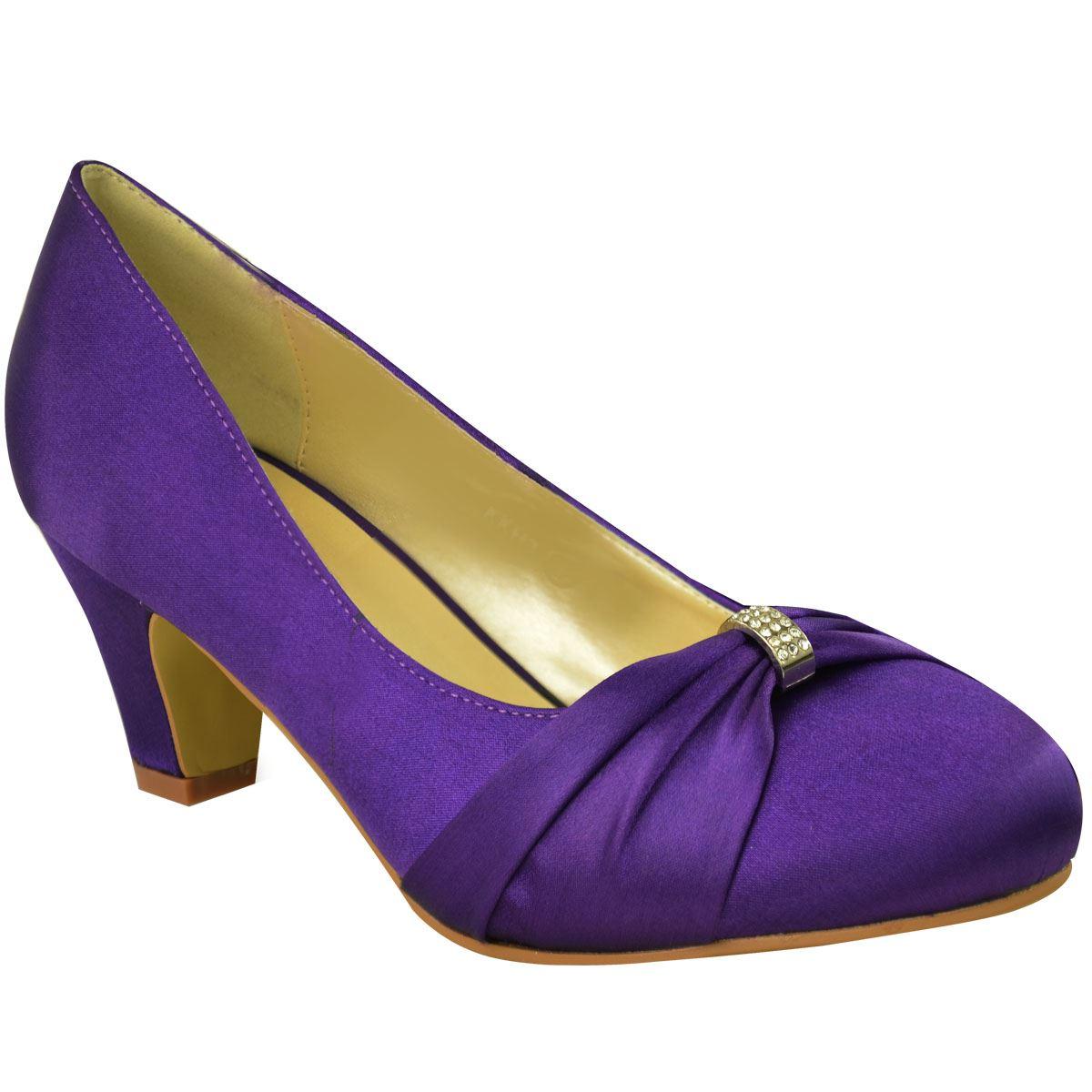 0ae88d0cd85 Womens Wedding Bridal Ladies Prom Shoes Low Heel Bridesmaid Evening ...