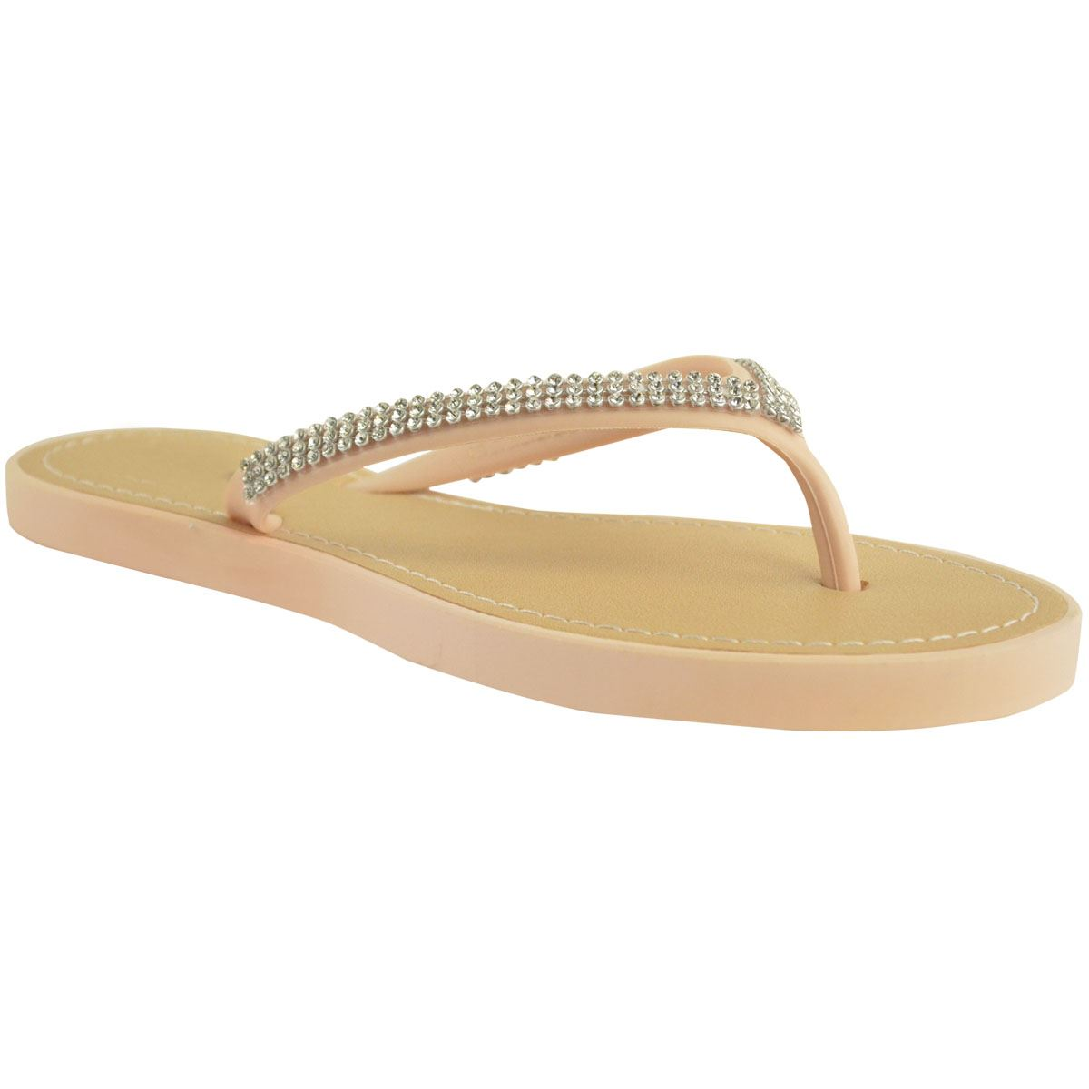 NEW-JELLY-SANDALS-WOMENS-LADIES-DIAMANTE-SUMMER-HOLIDAY-COMFORTS-FLIP-FLOPS-SIZE thumbnail 56