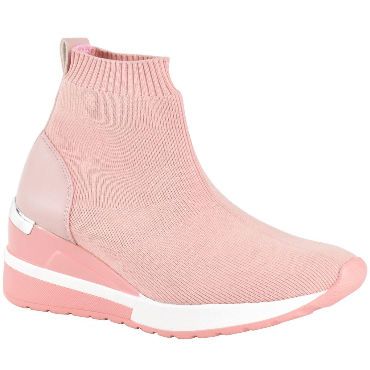 New Womens Ladies Low Wedge Speed Sock