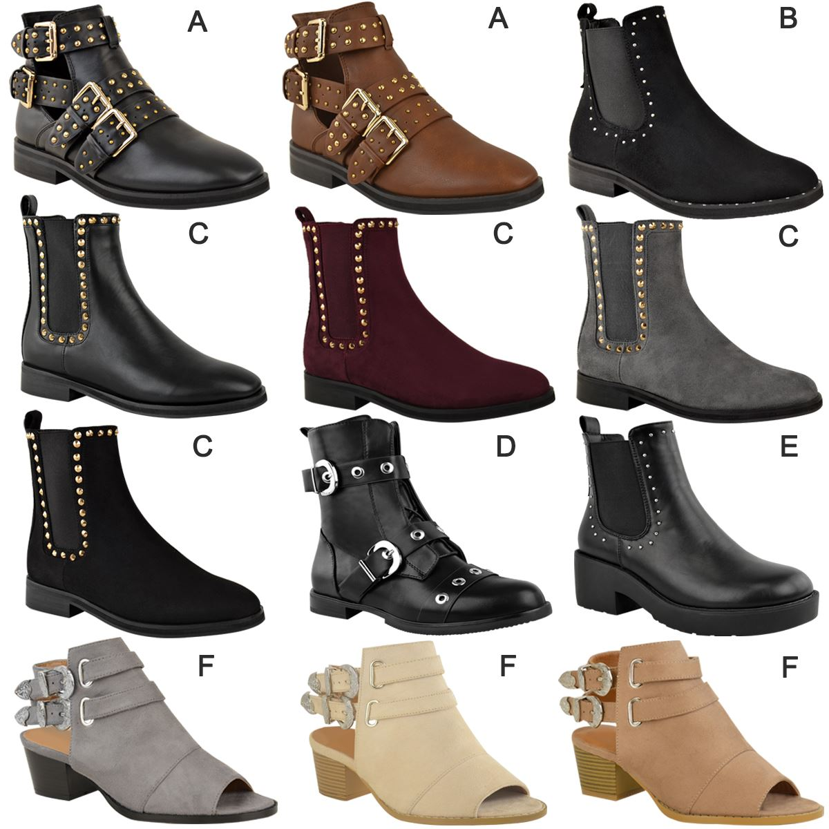 e0028c3c29 Ladies Ankle Low Heel Womens Chelsea Dealer Studded Shoes Boots UK ...