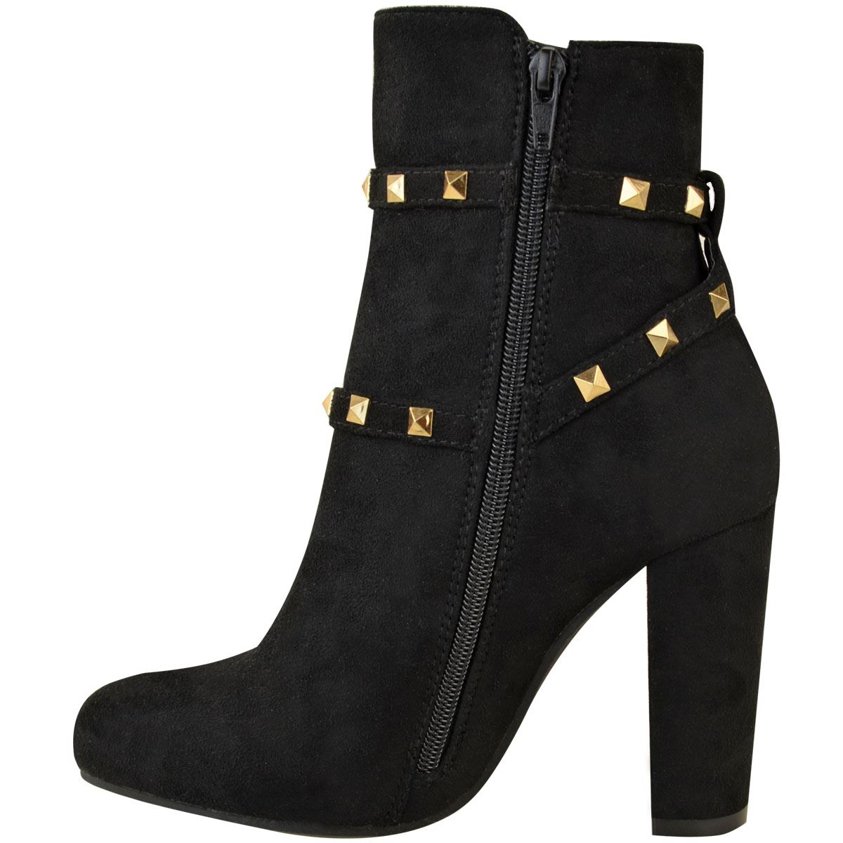 thumbnail 23 - WOMENS-LADIES-LOW-BLOCK-HEEL-CHELSEA-ANKLE-BOOTS-CUT-OUT-LACE-UP-SHOES-NEW-SIZE
