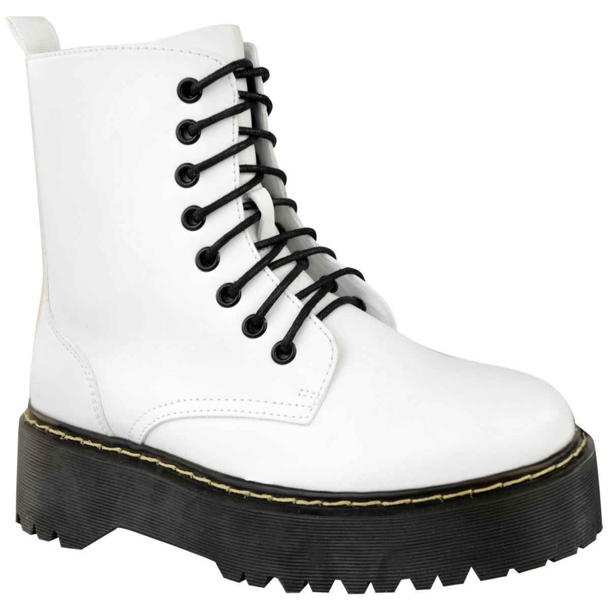 Womens-Ladies-Chunky-Lace-Up-Ankle-Boots-Platform-Icon-Retro-Goth-Punk-Black miniatuur 18