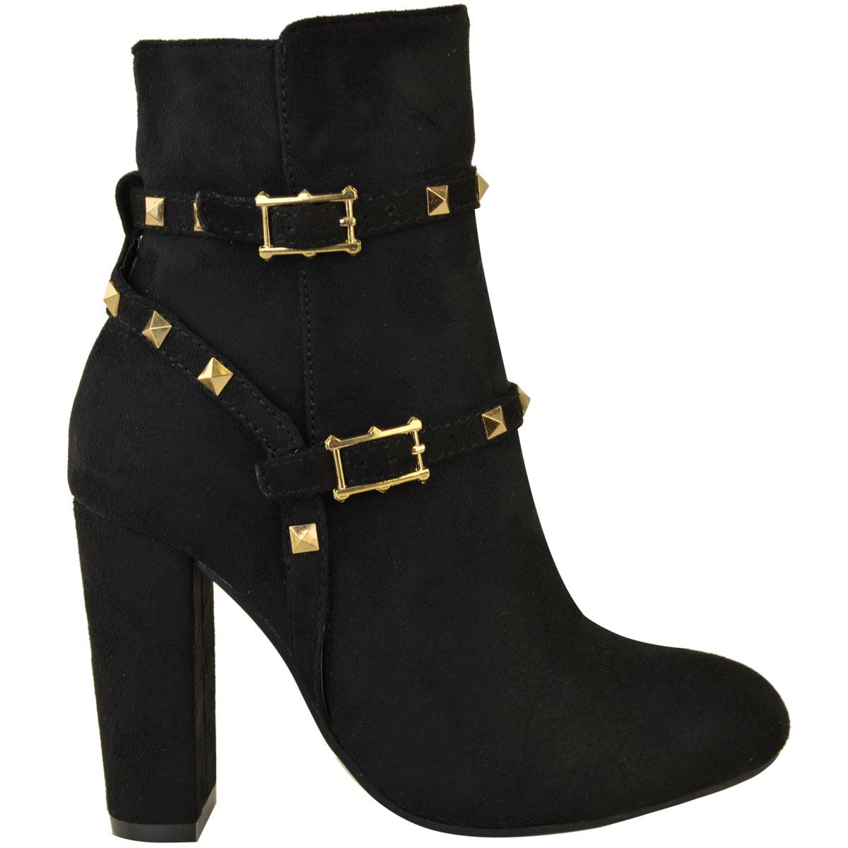thumbnail 22 - WOMENS-LADIES-LOW-BLOCK-HEEL-CHELSEA-ANKLE-BOOTS-CUT-OUT-LACE-UP-SHOES-NEW-SIZE