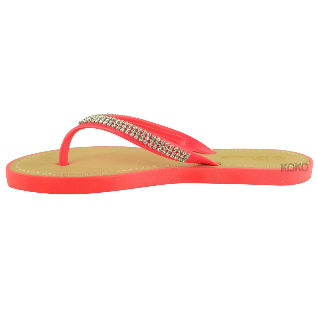 NEW-JELLY-SANDALS-WOMENS-LADIES-DIAMANTE-SUMMER-HOLIDAY-COMFORTS-FLIP-FLOPS-SIZE thumbnail 41