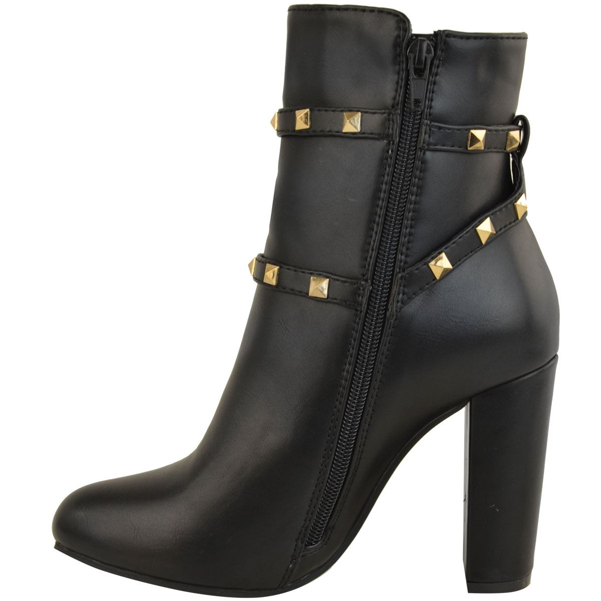 thumbnail 19 - WOMENS-LADIES-LOW-BLOCK-HEEL-CHELSEA-ANKLE-BOOTS-CUT-OUT-LACE-UP-SHOES-NEW-SIZE
