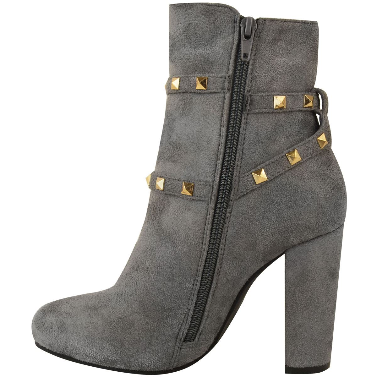 thumbnail 27 - WOMENS-LADIES-LOW-BLOCK-HEEL-CHELSEA-ANKLE-BOOTS-CUT-OUT-LACE-UP-SHOES-NEW-SIZE
